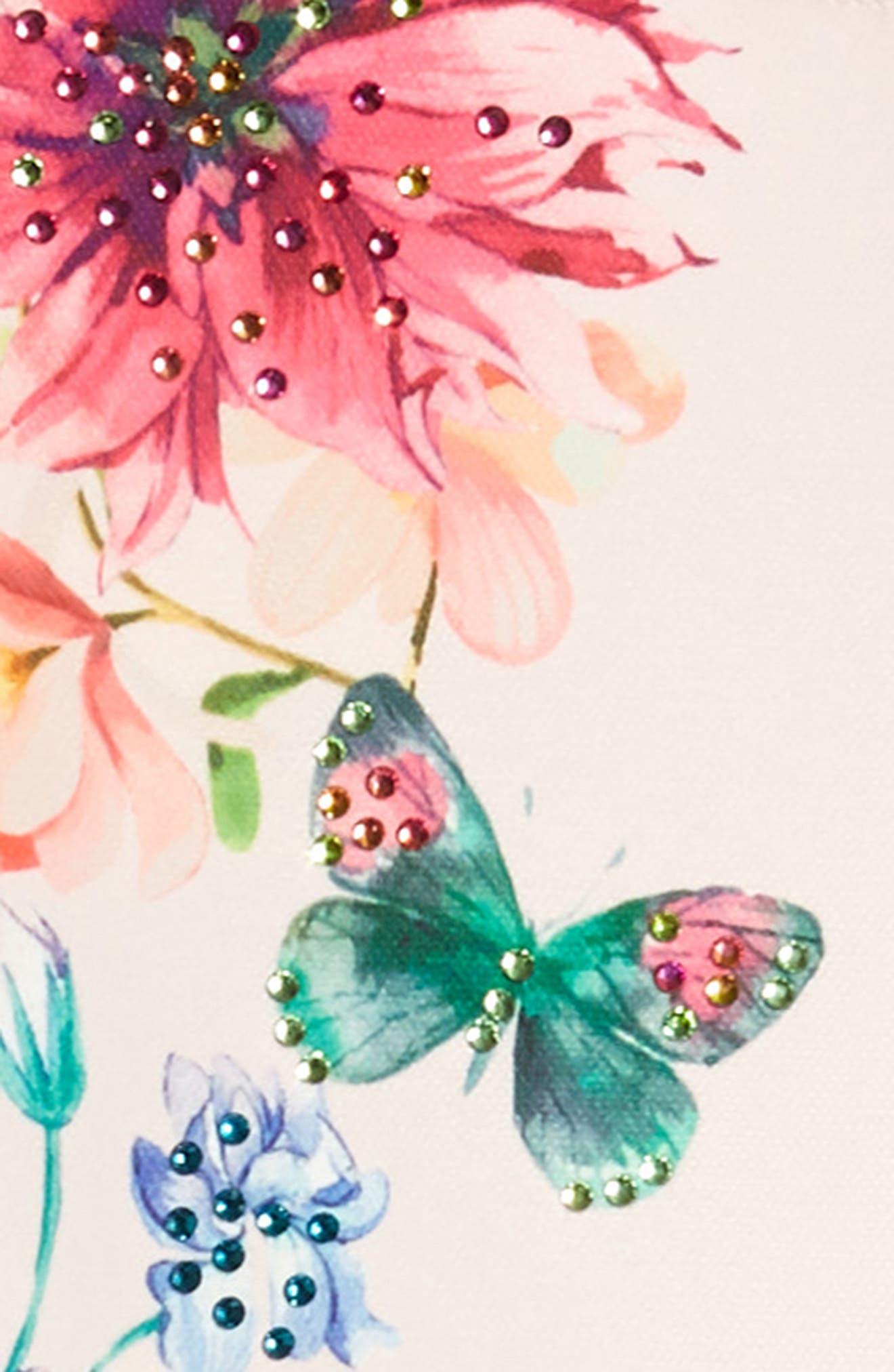 Floral Skater Dress,                             Alternate thumbnail 3, color,                             Pink