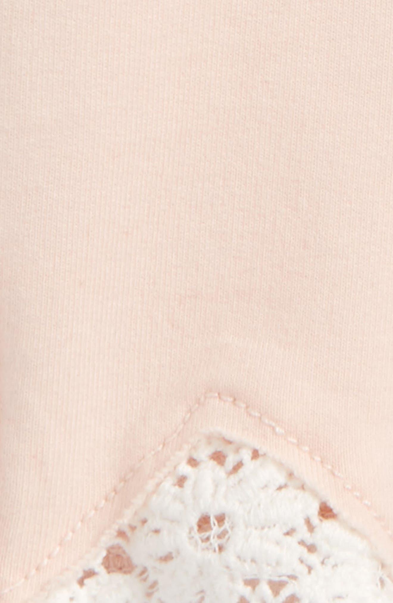 Crochet Lace Trim Jeggings,                             Alternate thumbnail 2, color,                             Pink Cloud Wash