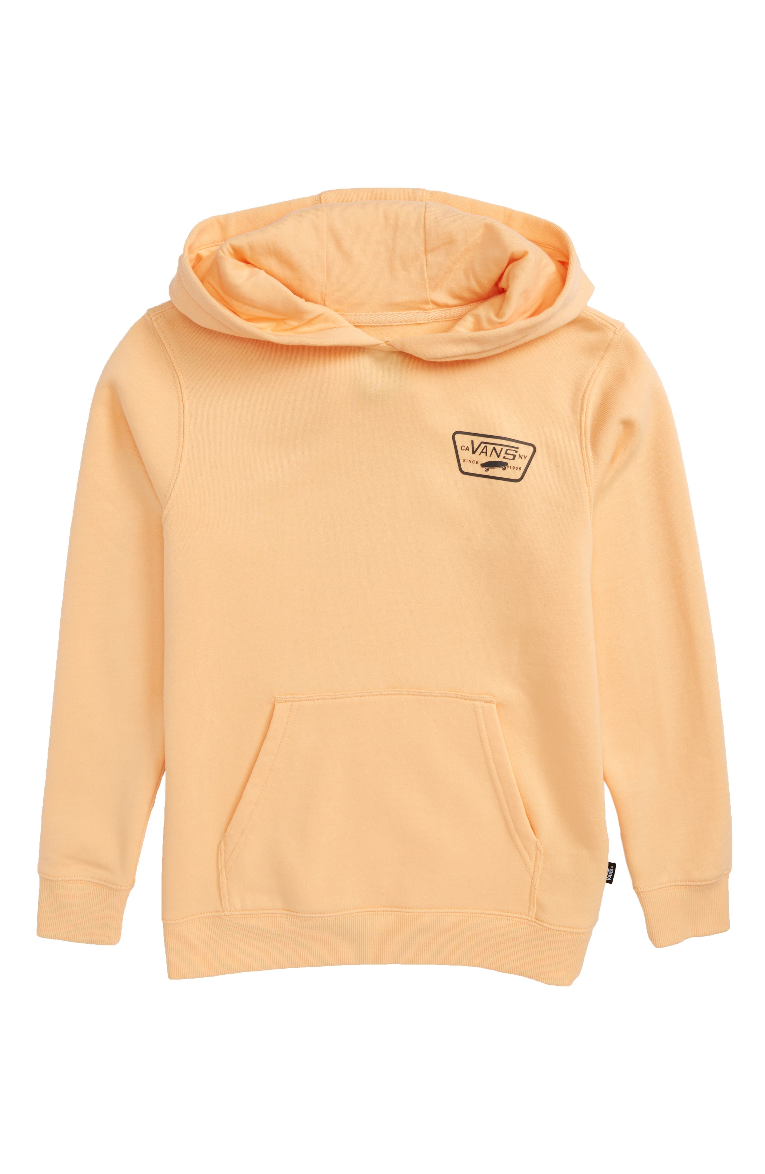 'Full Patched' Fleece Hoodie,                             Main thumbnail 1, color,                             Apricot Ice/ Black