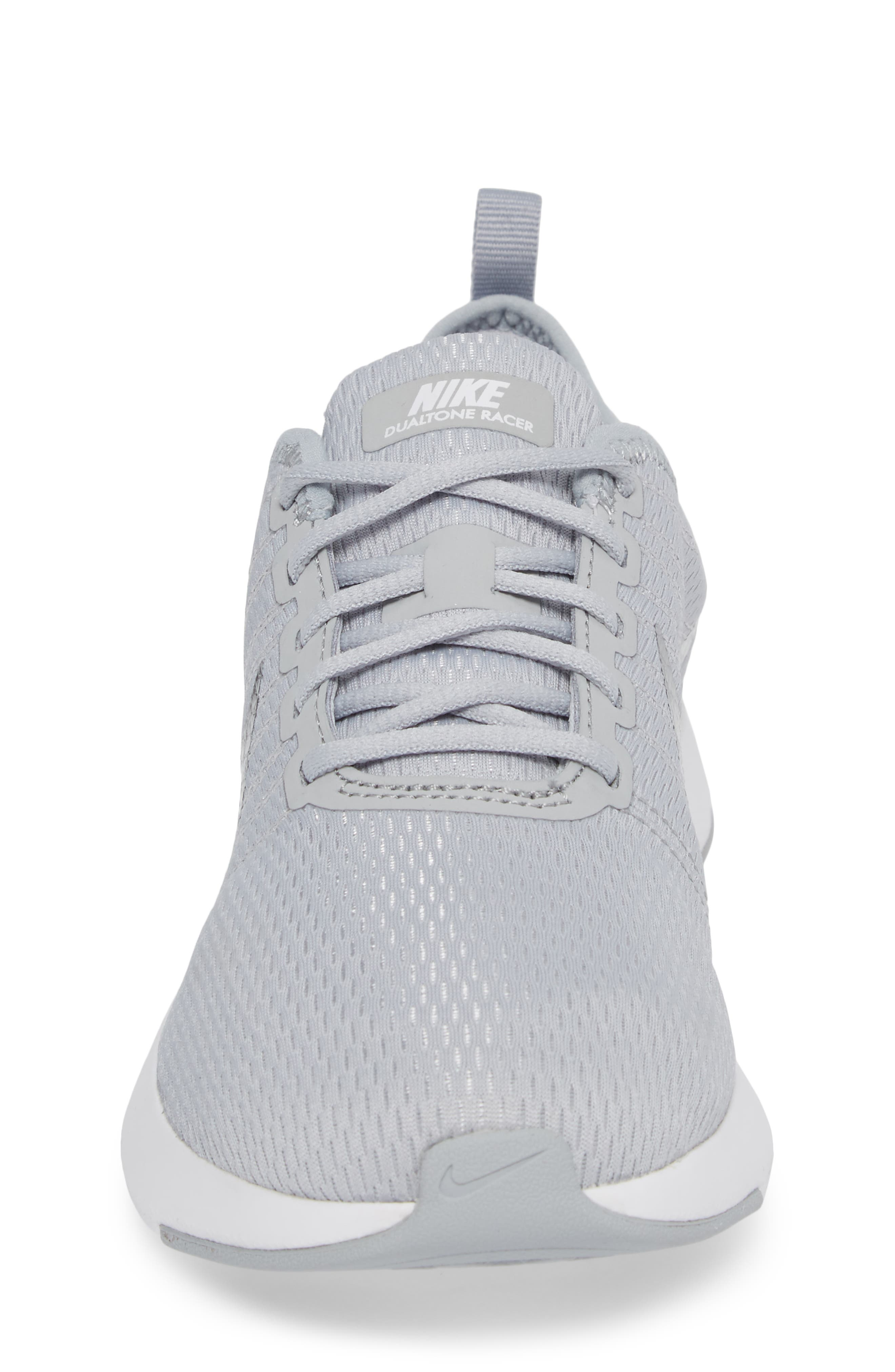 Dualtone Racer GS Sneaker,                             Alternate thumbnail 4, color,                             Wolf Grey/ Metallic Silver