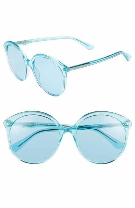 e9e774f0e2 Gucci 59mm Round Sunglasses