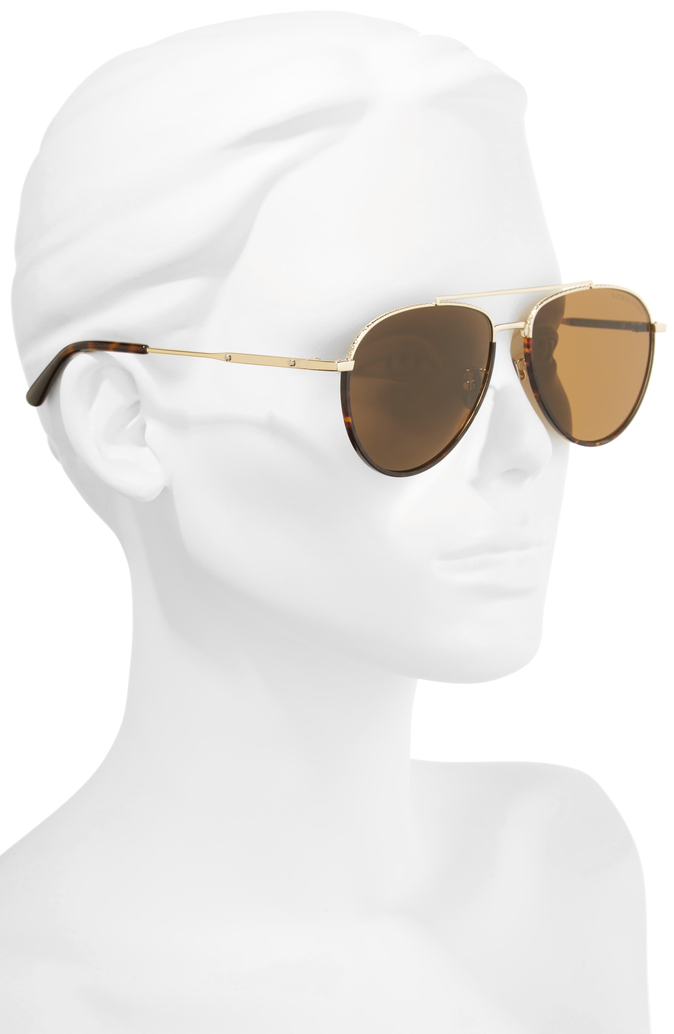 Alternate Image 2  - Bottega Veneta 59mm Aviator Sunglasses