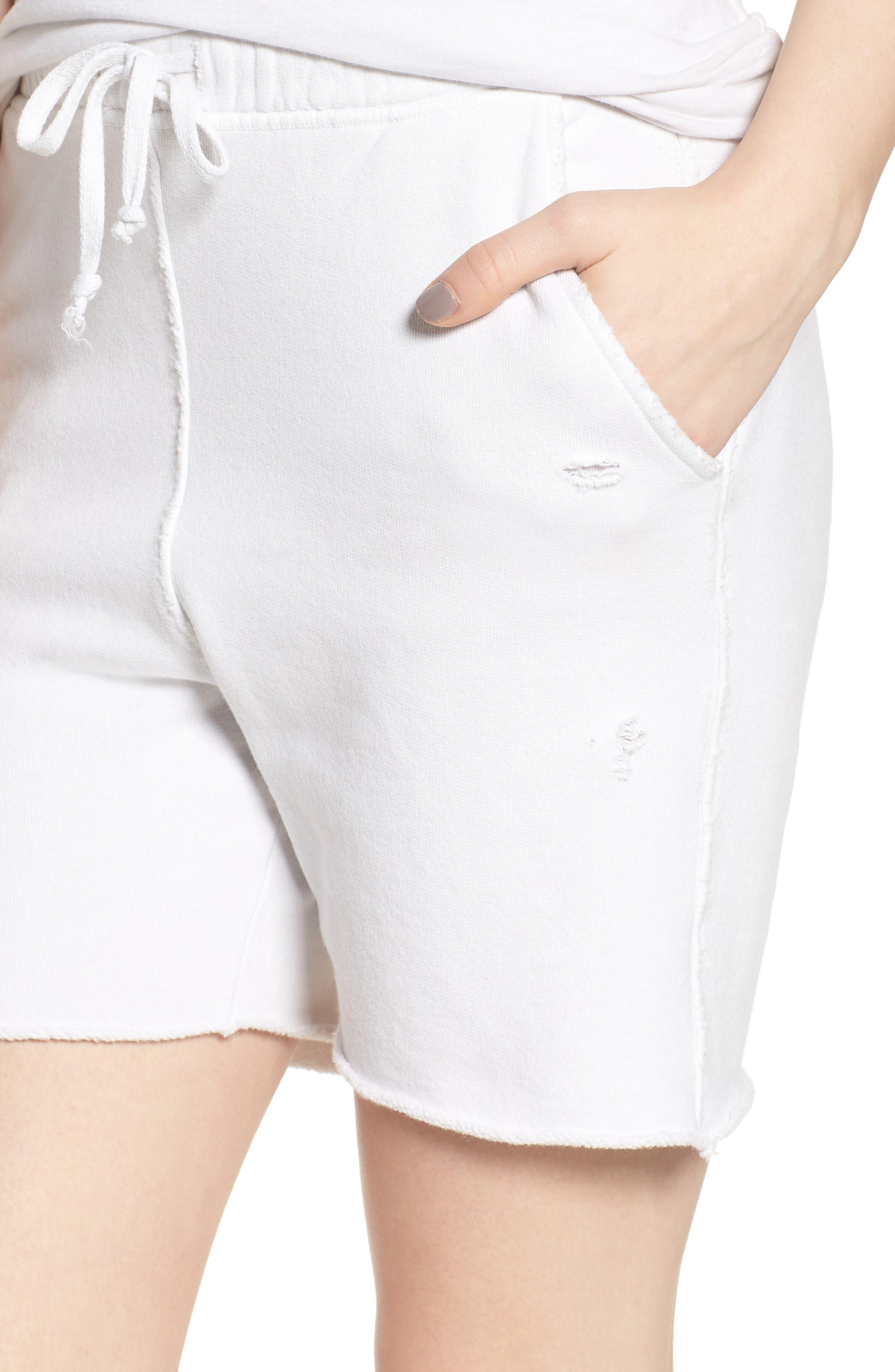 Fleece Shorts,                             Alternate thumbnail 4, color,                             Dirty White 10 Yr Vintage