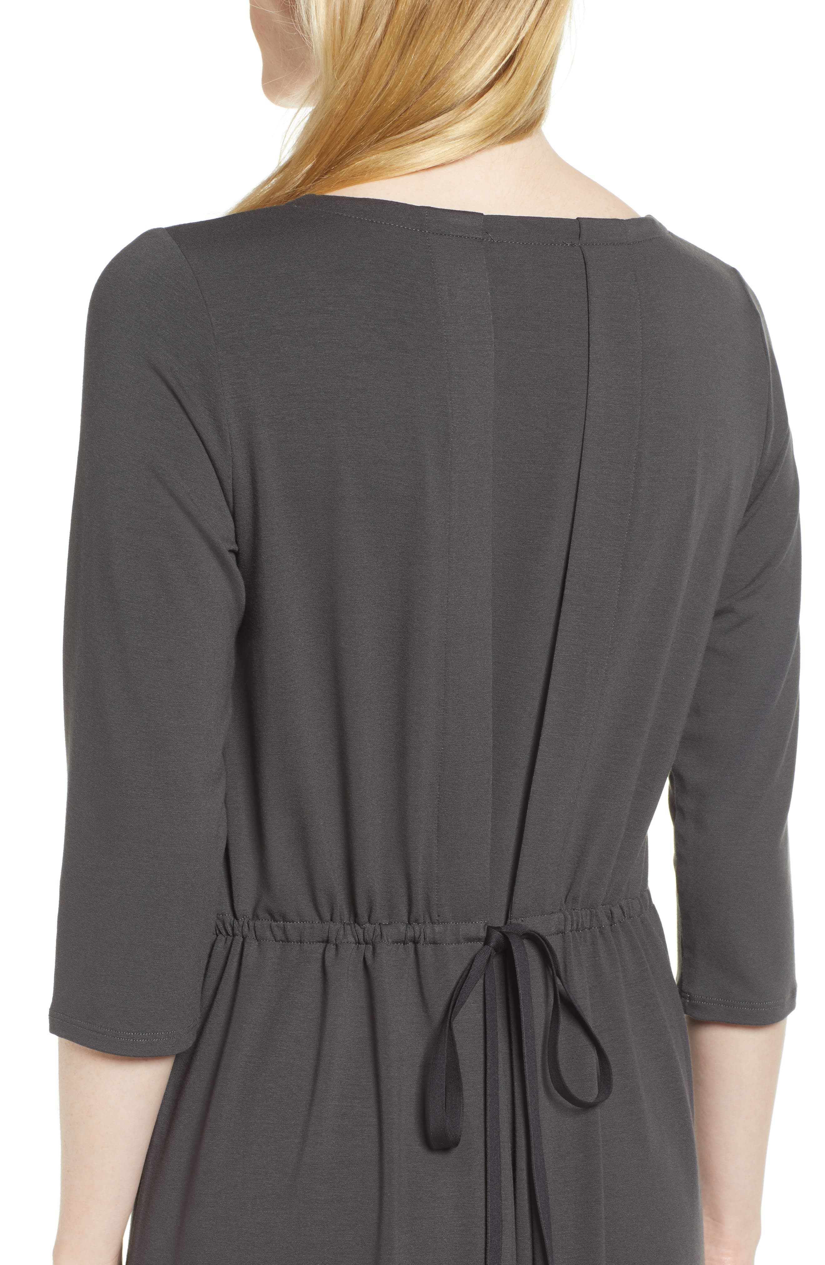 Alternate Image 4  - Eileen Fisher Tie Back Dress (Regular & Petite)