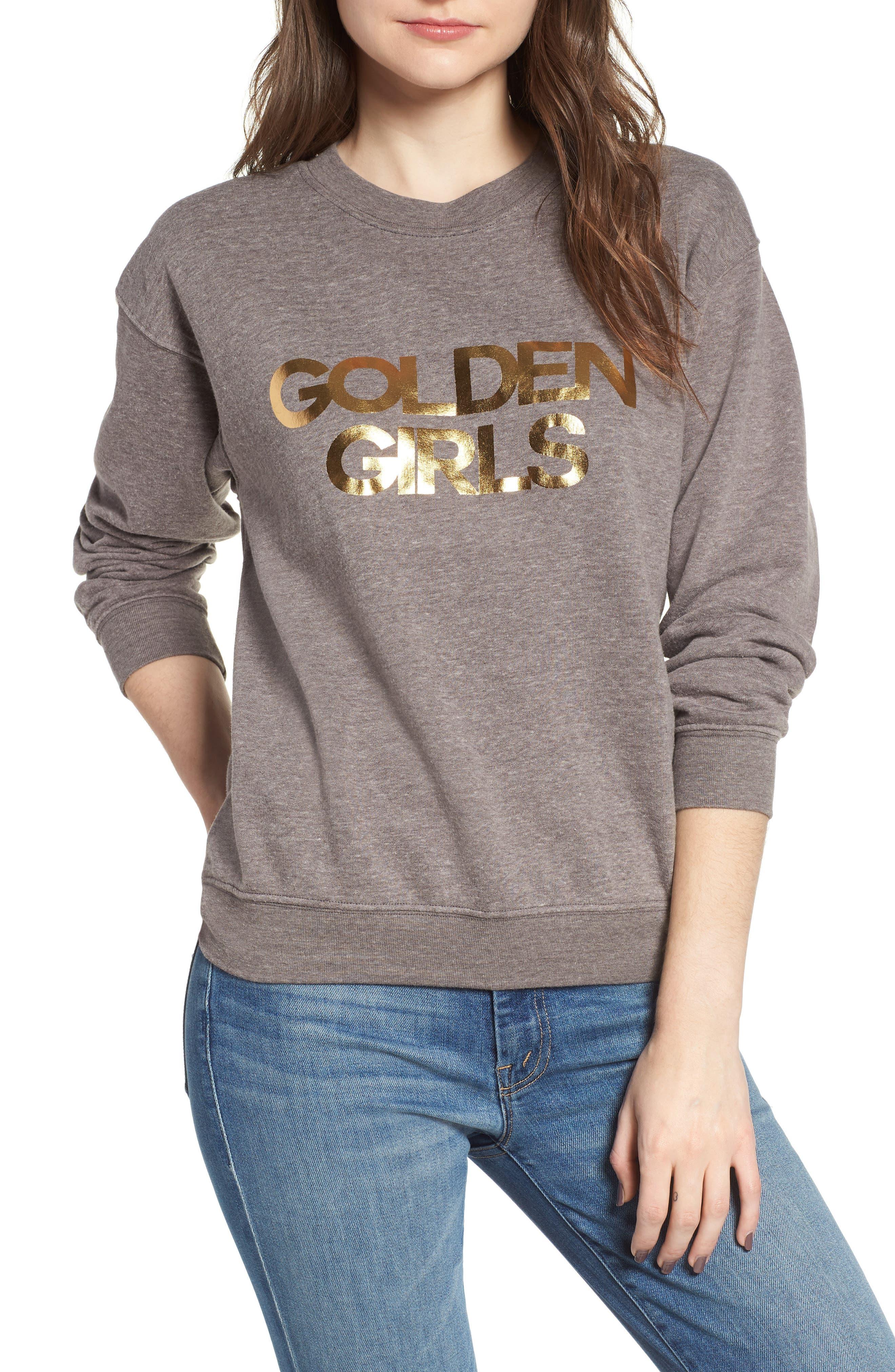 Golden Girls Willow Sweatshirt,                             Main thumbnail 1, color,                             Heather Grey