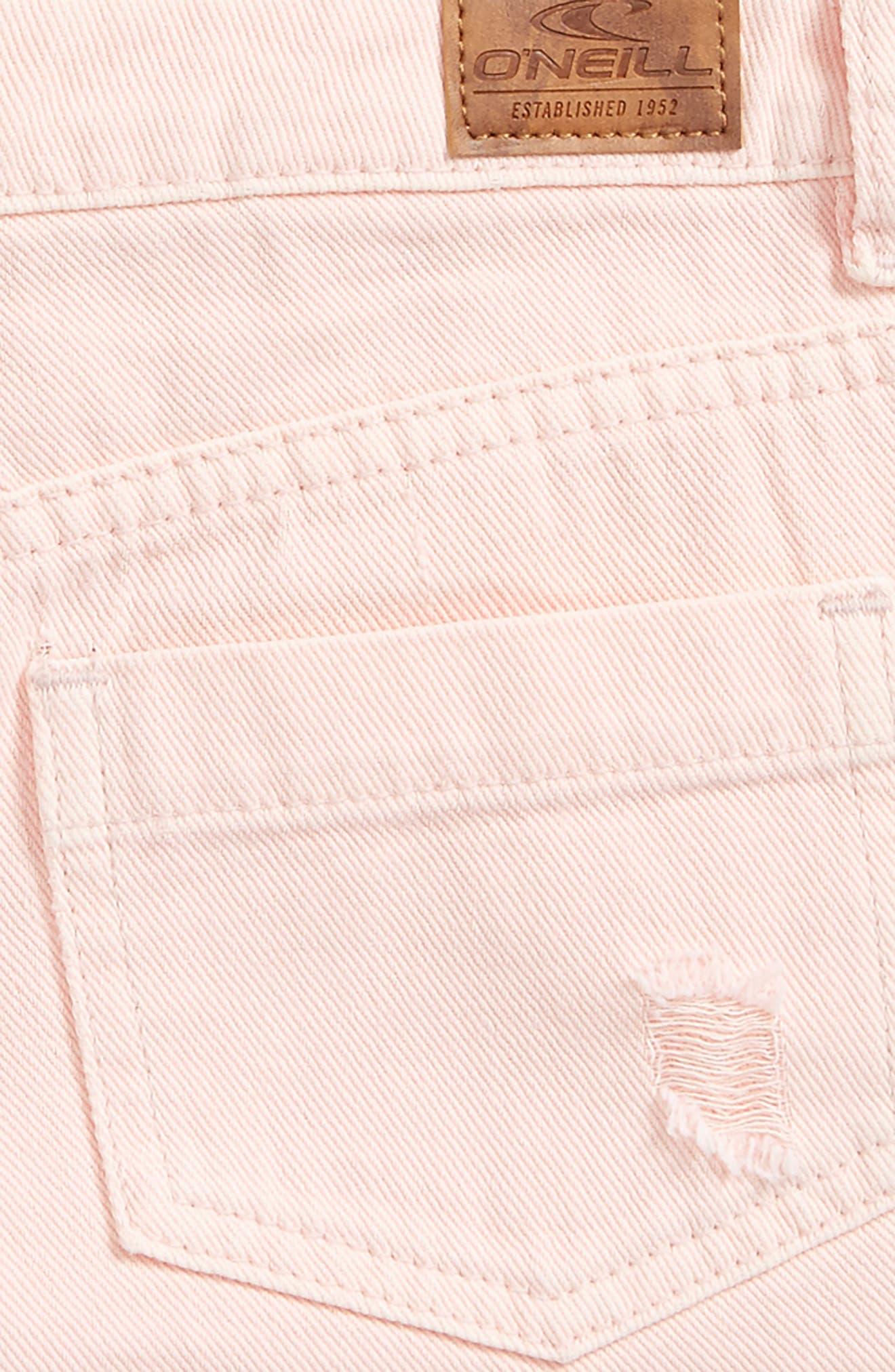 Islas Denim Shorts,                             Alternate thumbnail 3, color,                             Pastel Lavender