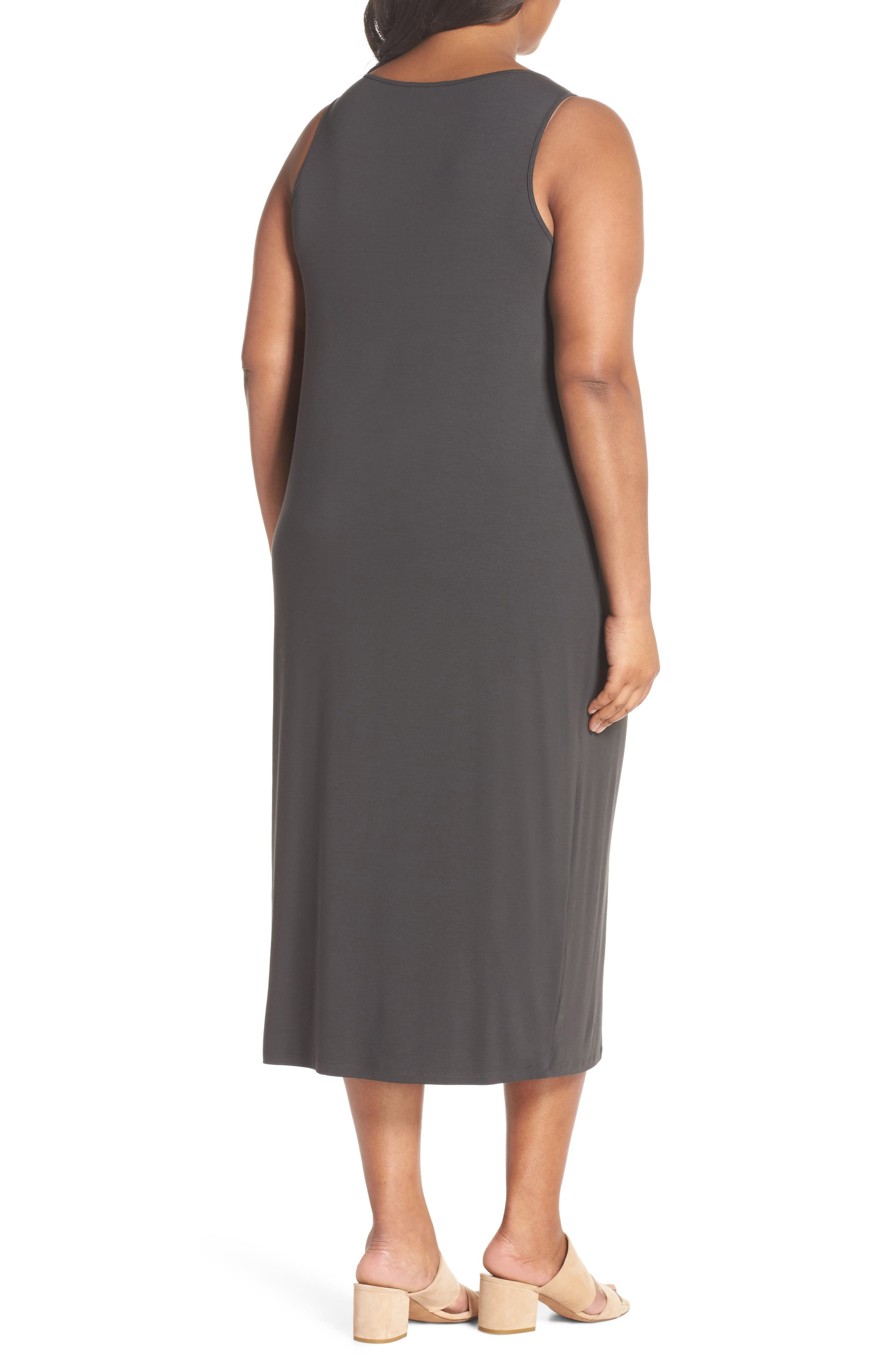 Scoop Neck Jersey Dress,                             Alternate thumbnail 2, color,                             Graphite