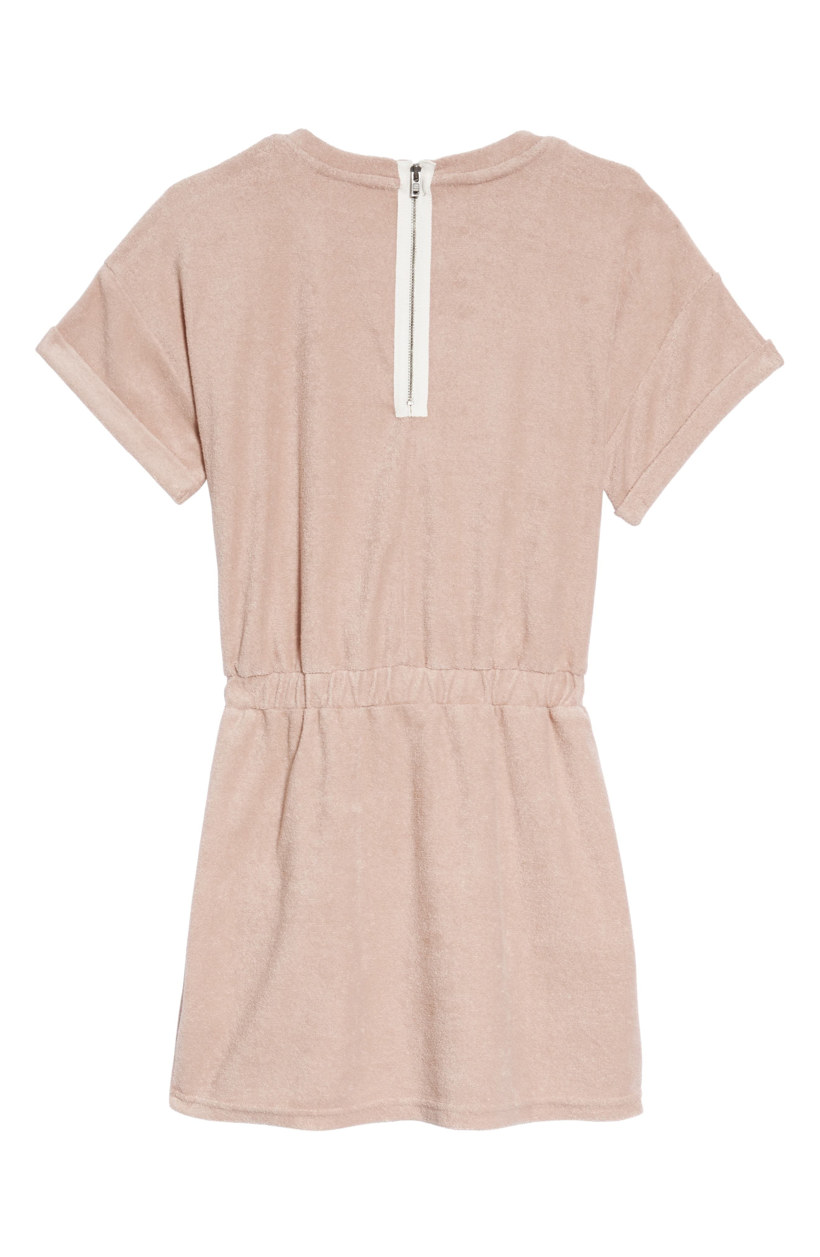 Elana French Terry Dress,                             Alternate thumbnail 2, color,                             Pretty Pink