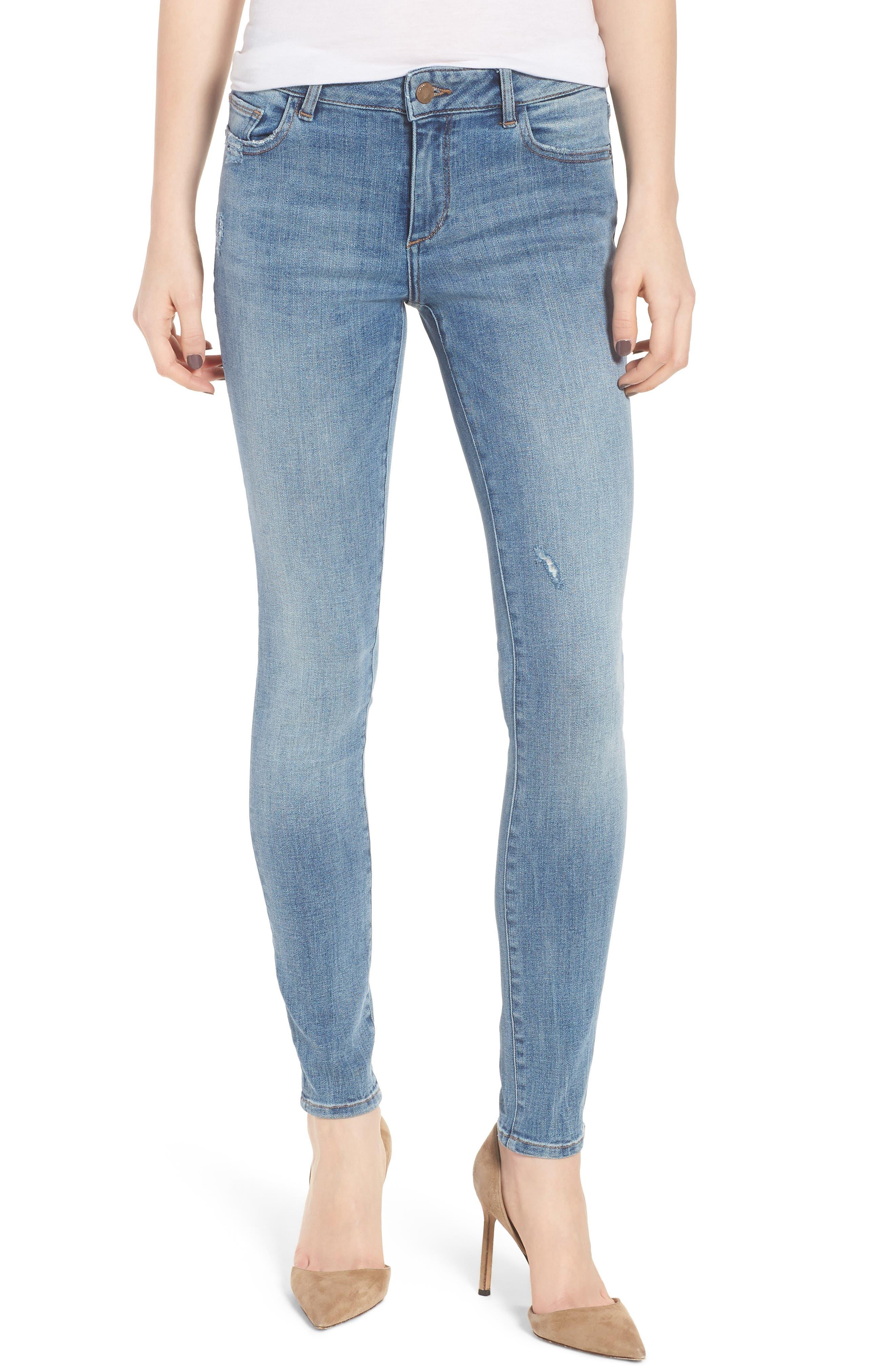 Florence Instasculpt Skinny Jeans,                             Main thumbnail 1, color,                             Delano