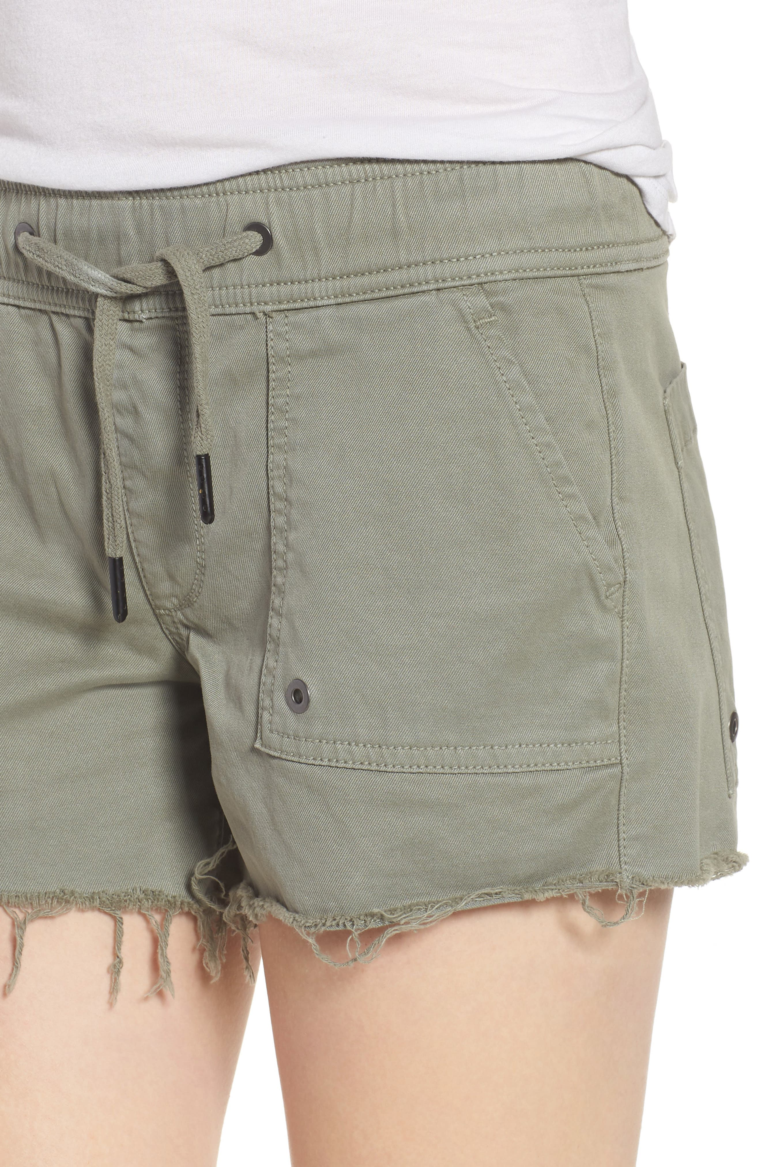 Flynn Low Rise Military Shorts,                             Alternate thumbnail 4, color,                             Grove