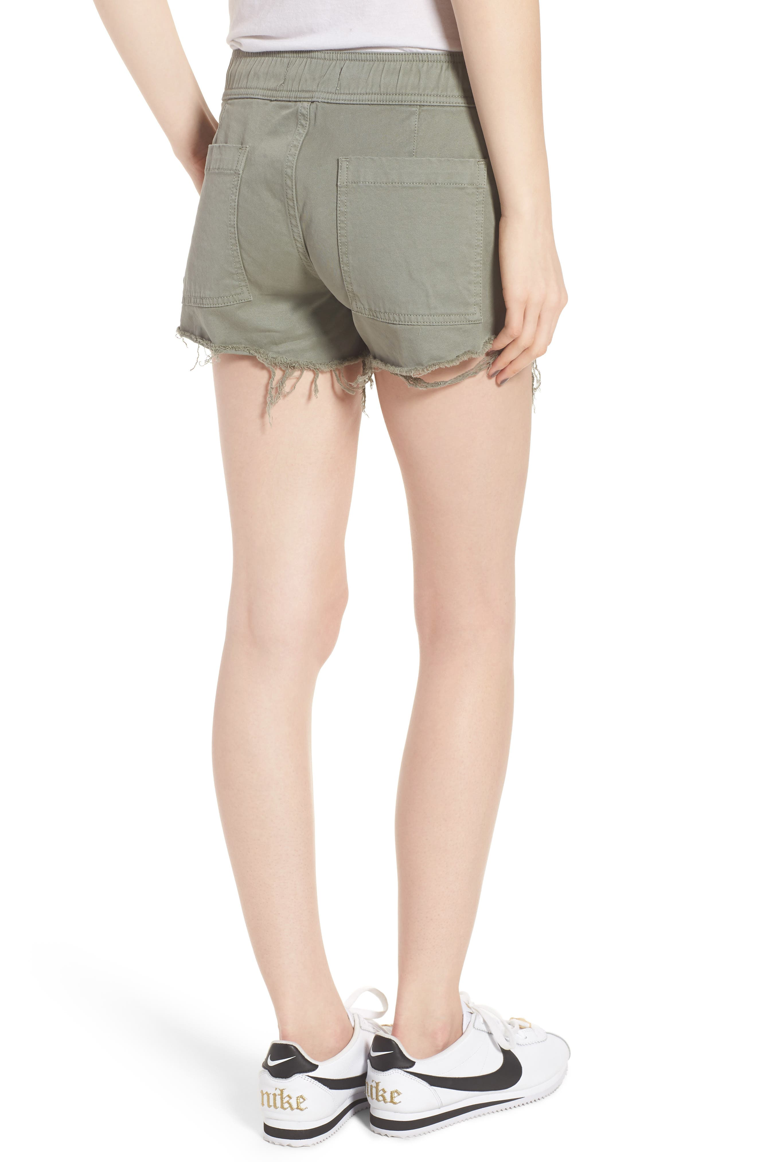Flynn Low Rise Military Shorts,                             Alternate thumbnail 2, color,                             Grove