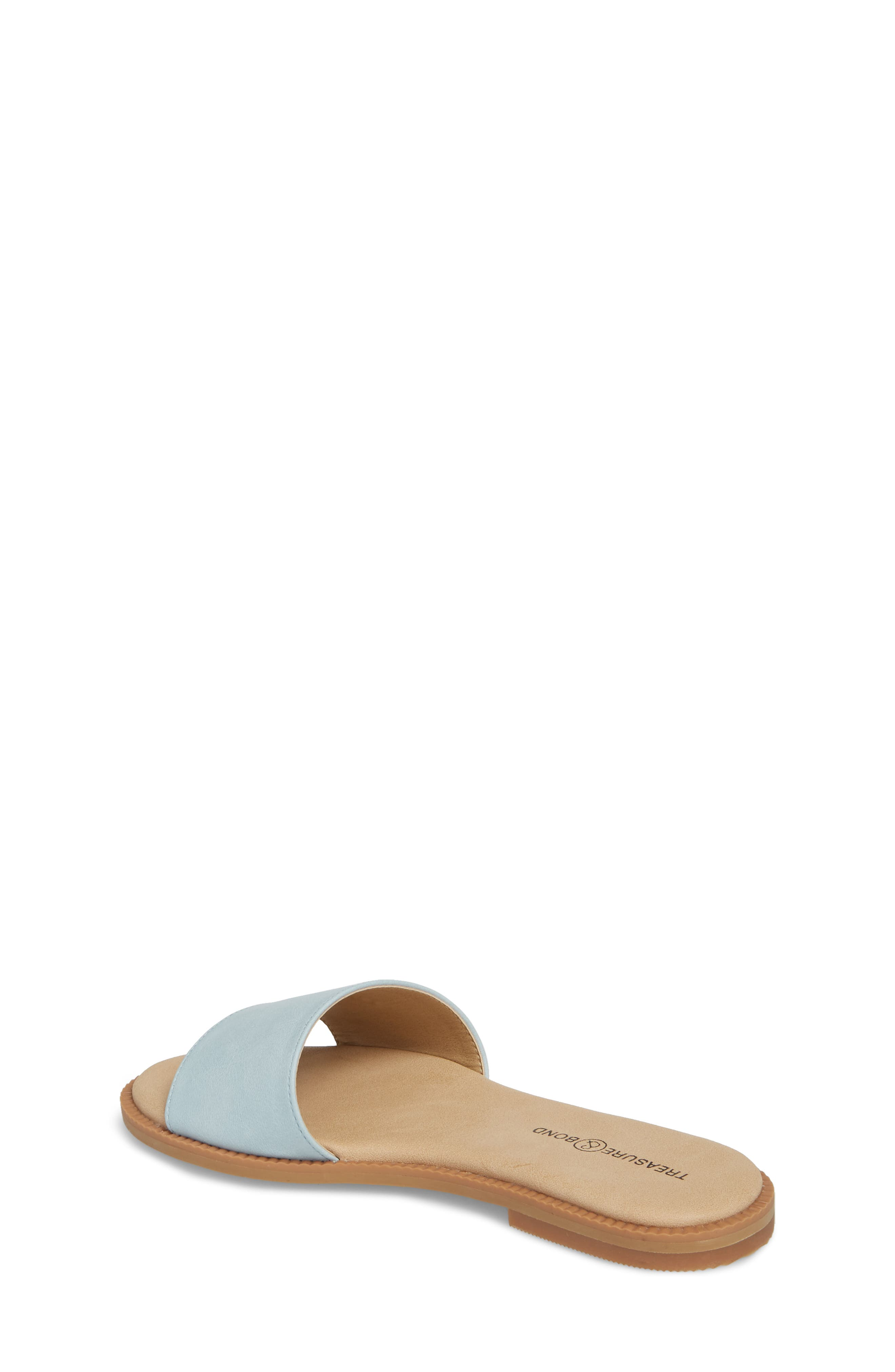 Mia Slide Sandal,                             Alternate thumbnail 2, color,                             Aqua Faux Leather