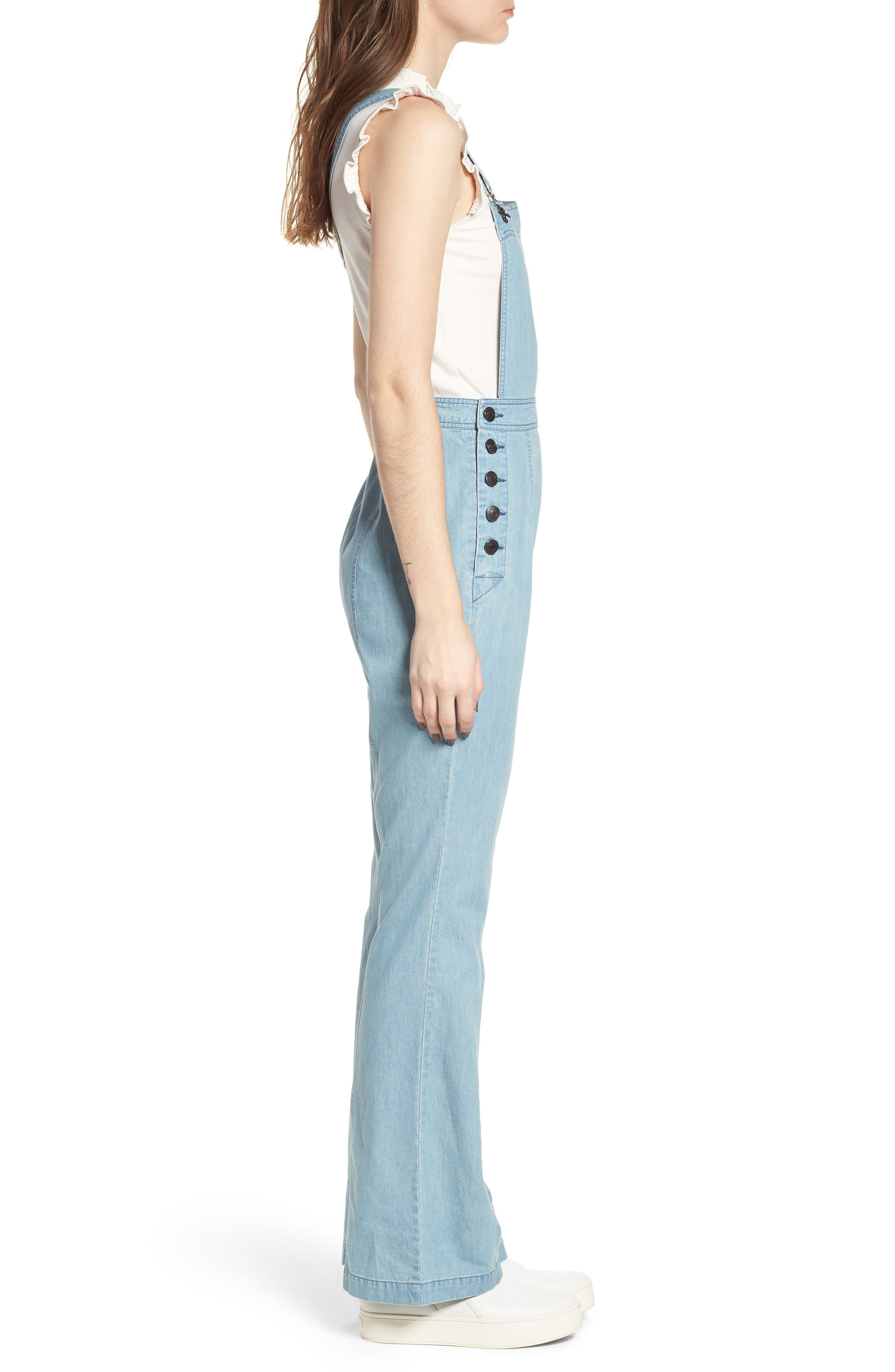 Meliani Denim Overalls,                             Alternate thumbnail 3, color,                             Denim