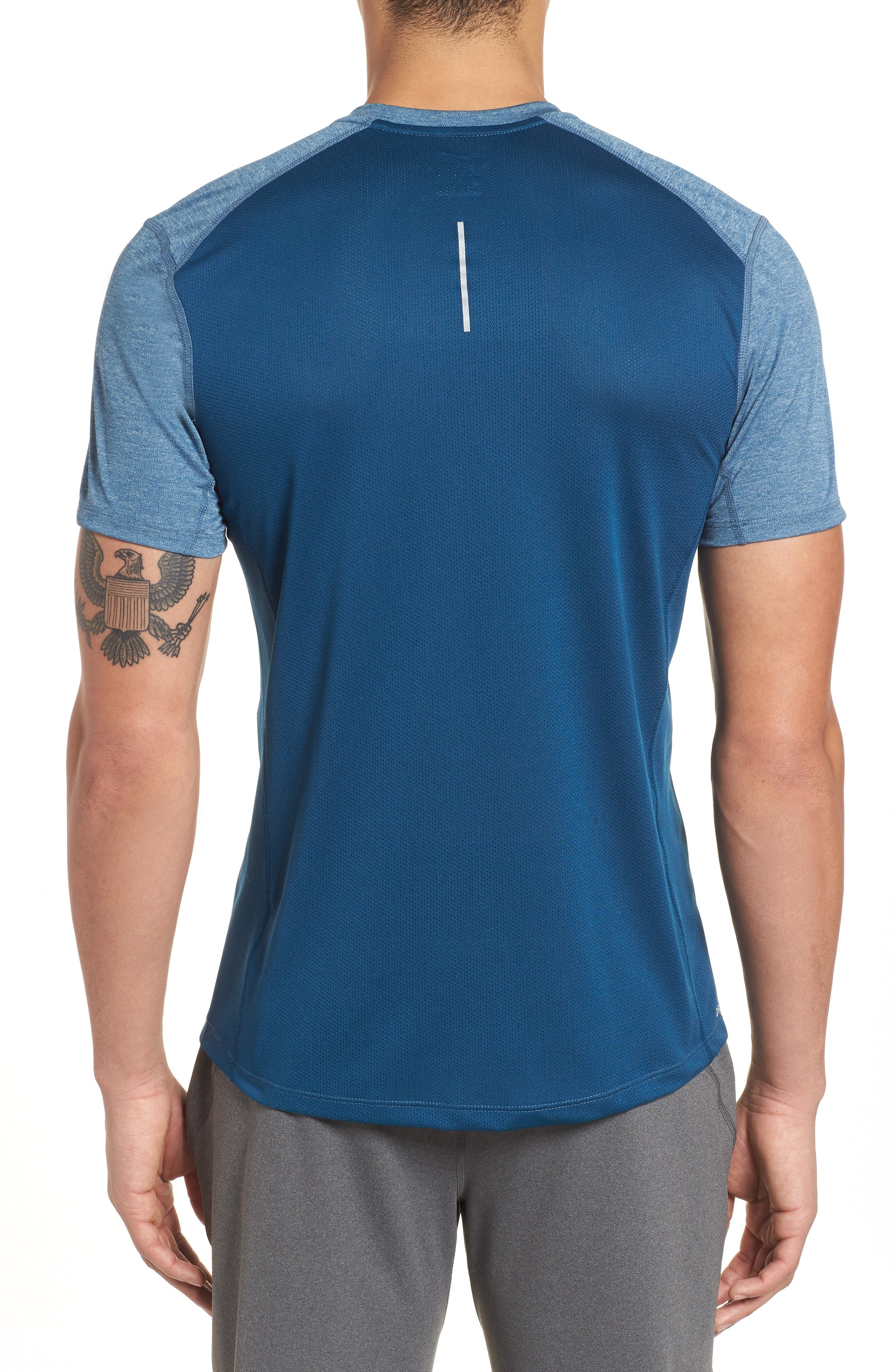 Dry Miler Running Top,                             Alternate thumbnail 2, color,                             Blue Force/ Heather