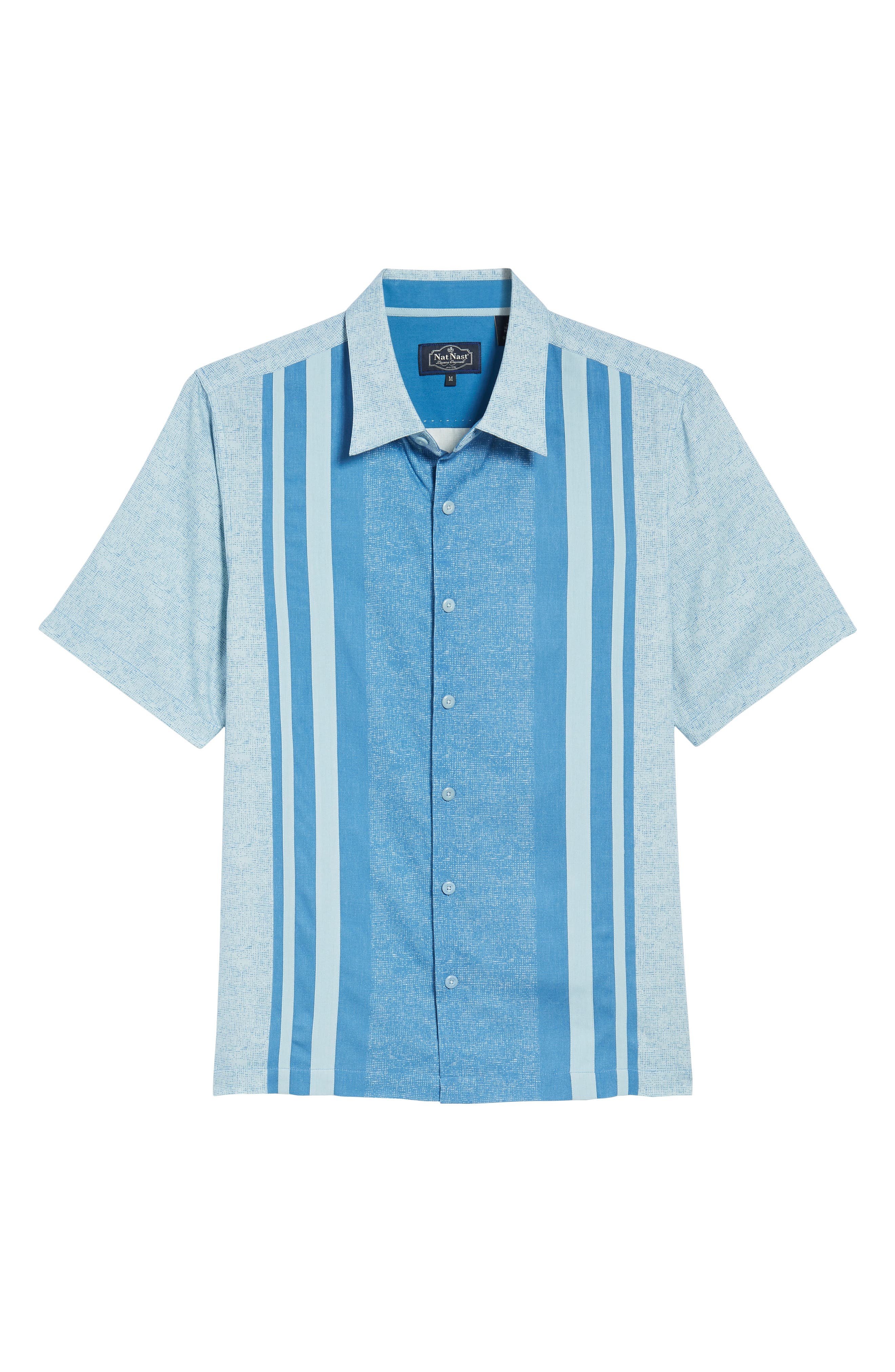 All Mixed Up Camp Shirt,                             Alternate thumbnail 6, color,                             Cornflower