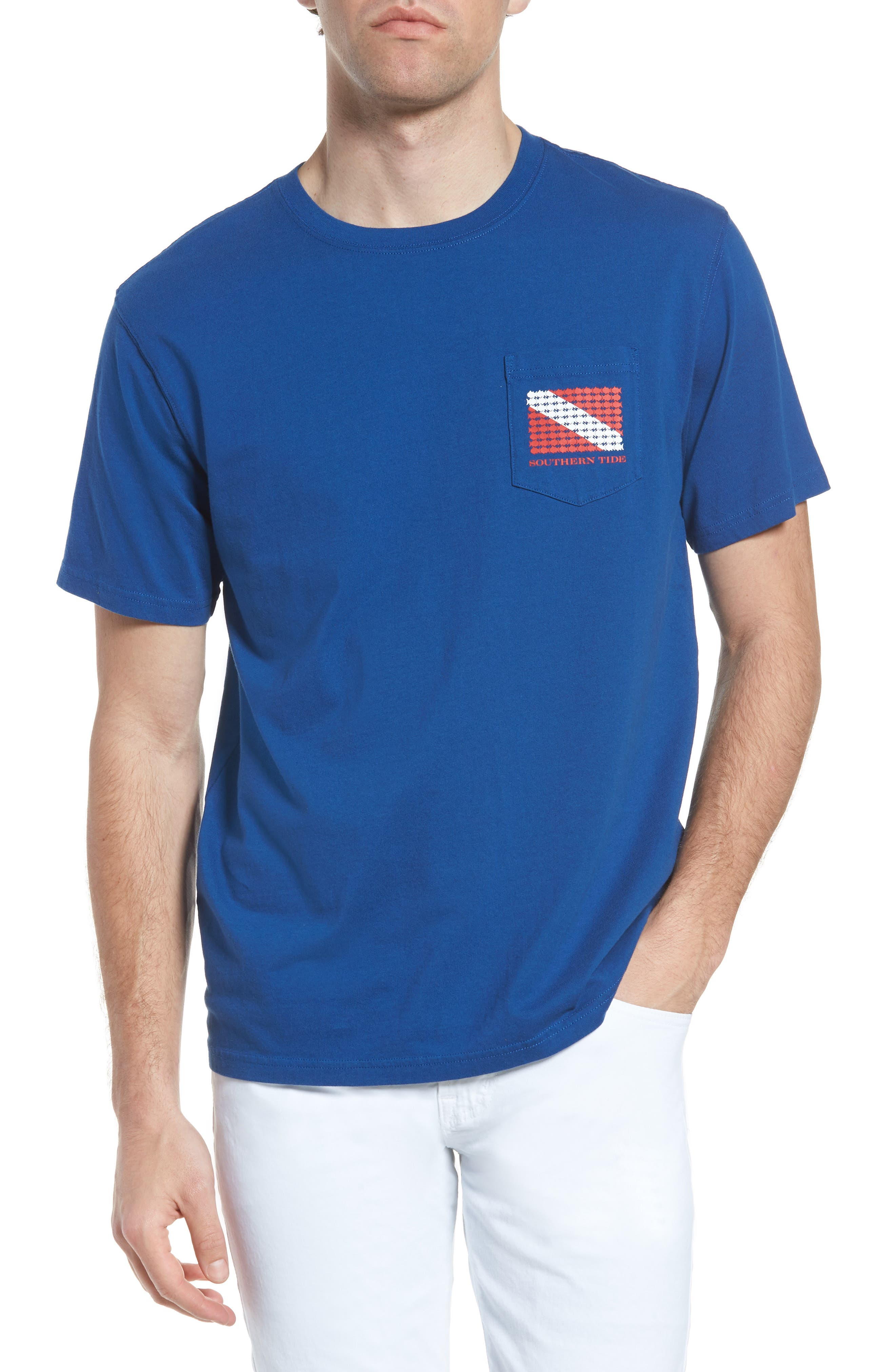 Go Deep Crewneck T-Shirt,                             Main thumbnail 1, color,                             Blue Lake