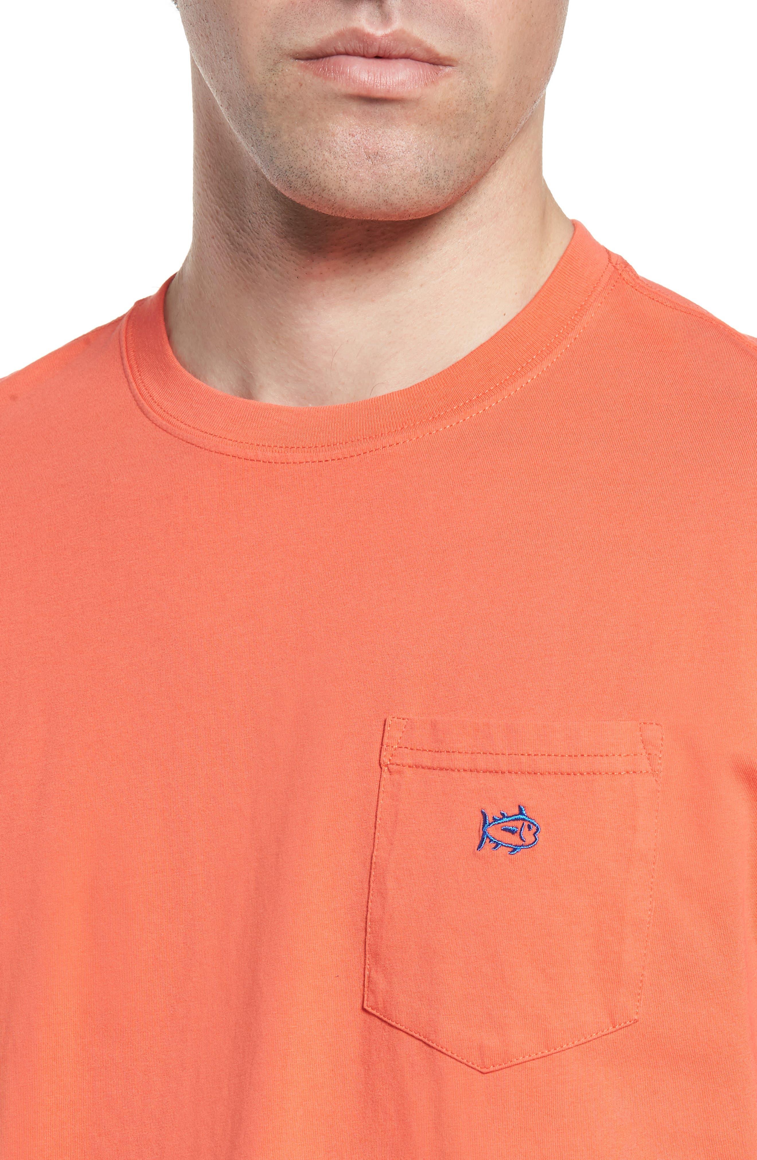 Skipjack Logo Regular Fit T-Shirt,                             Alternate thumbnail 4, color,                             Hot Coral