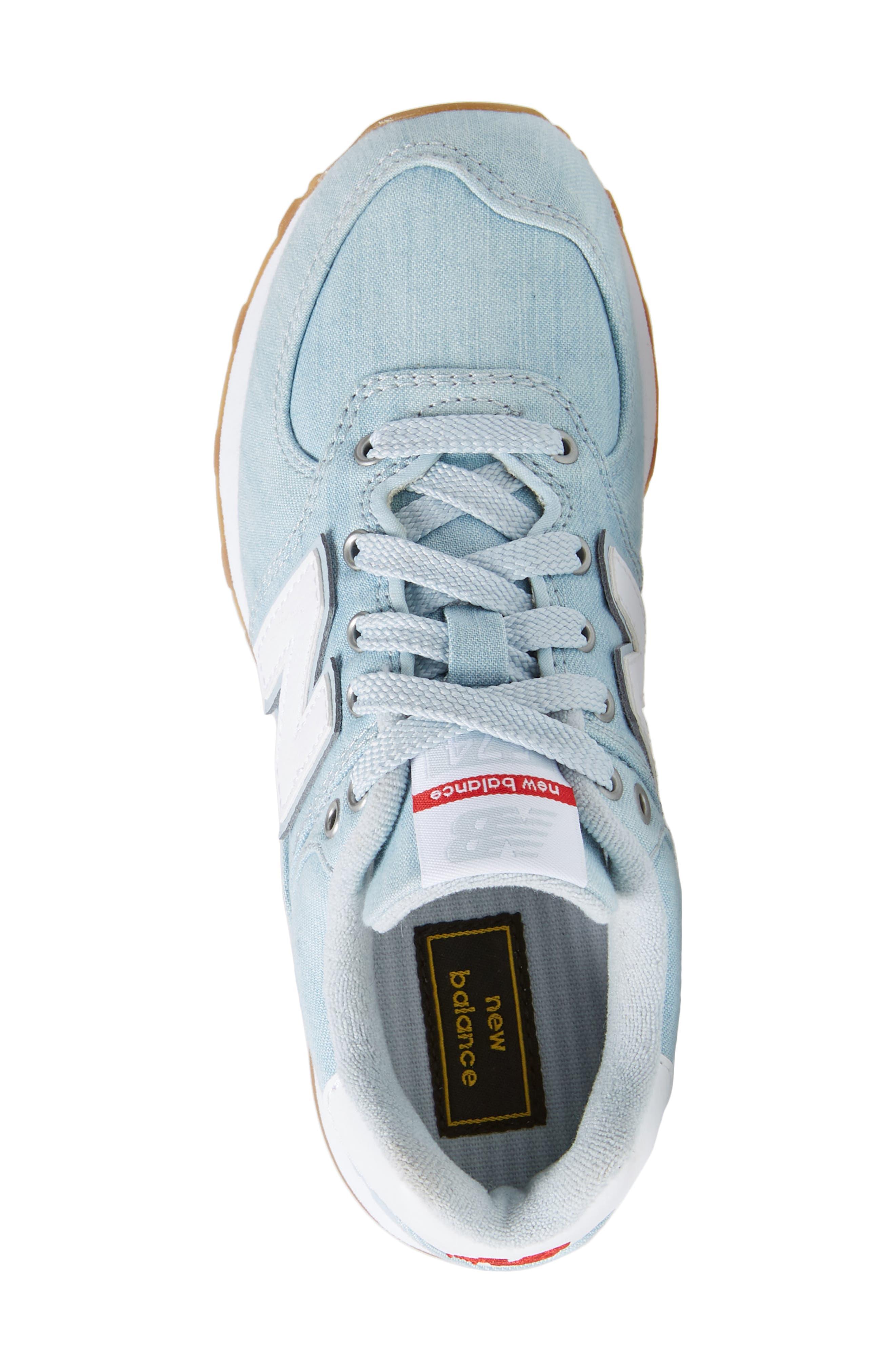 574v1 Sneaker,                             Alternate thumbnail 5, color,                             Light Porcelain Blue
