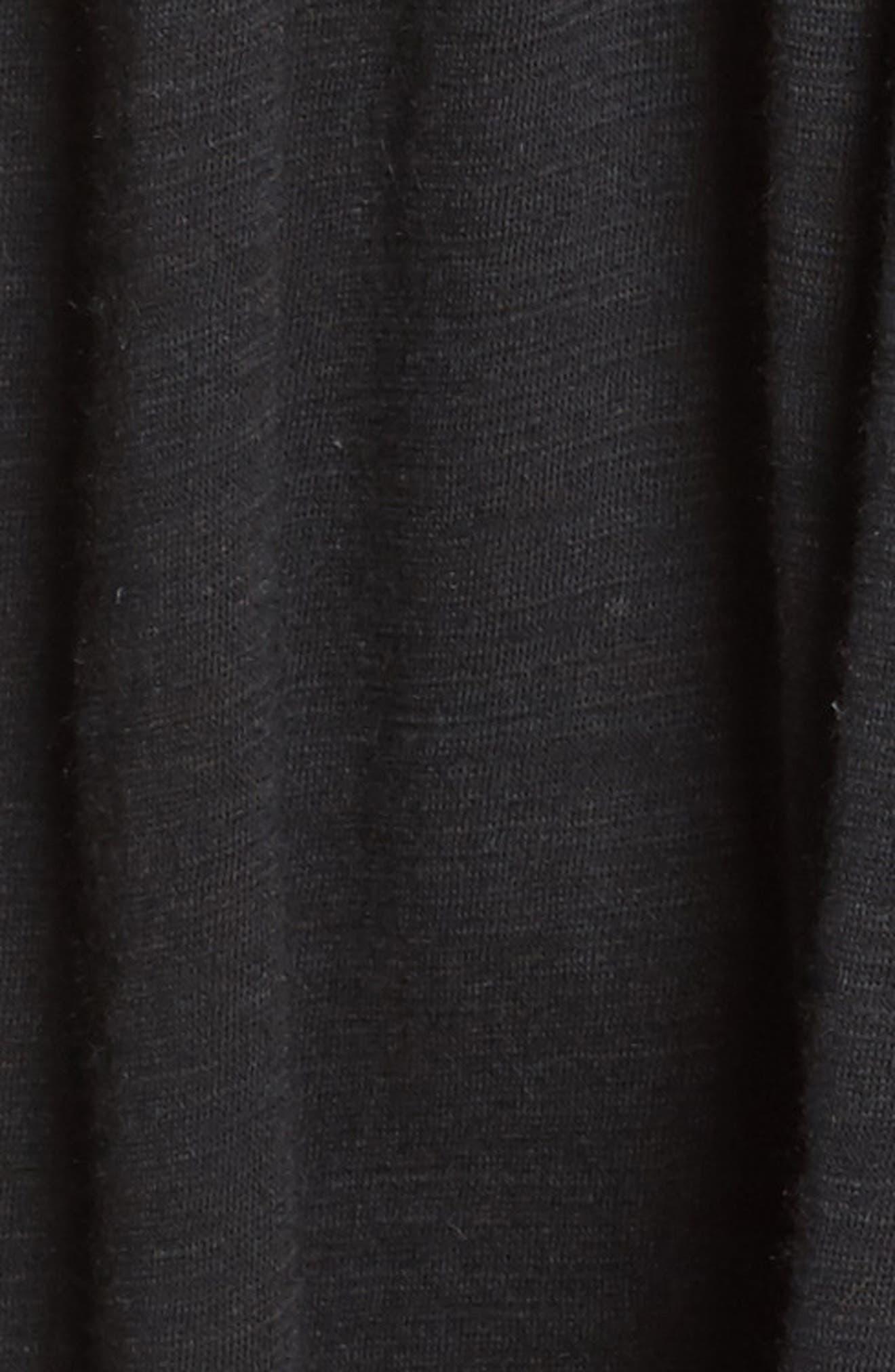 Mix Lace Knit Tank,                             Alternate thumbnail 4, color,                             Black
