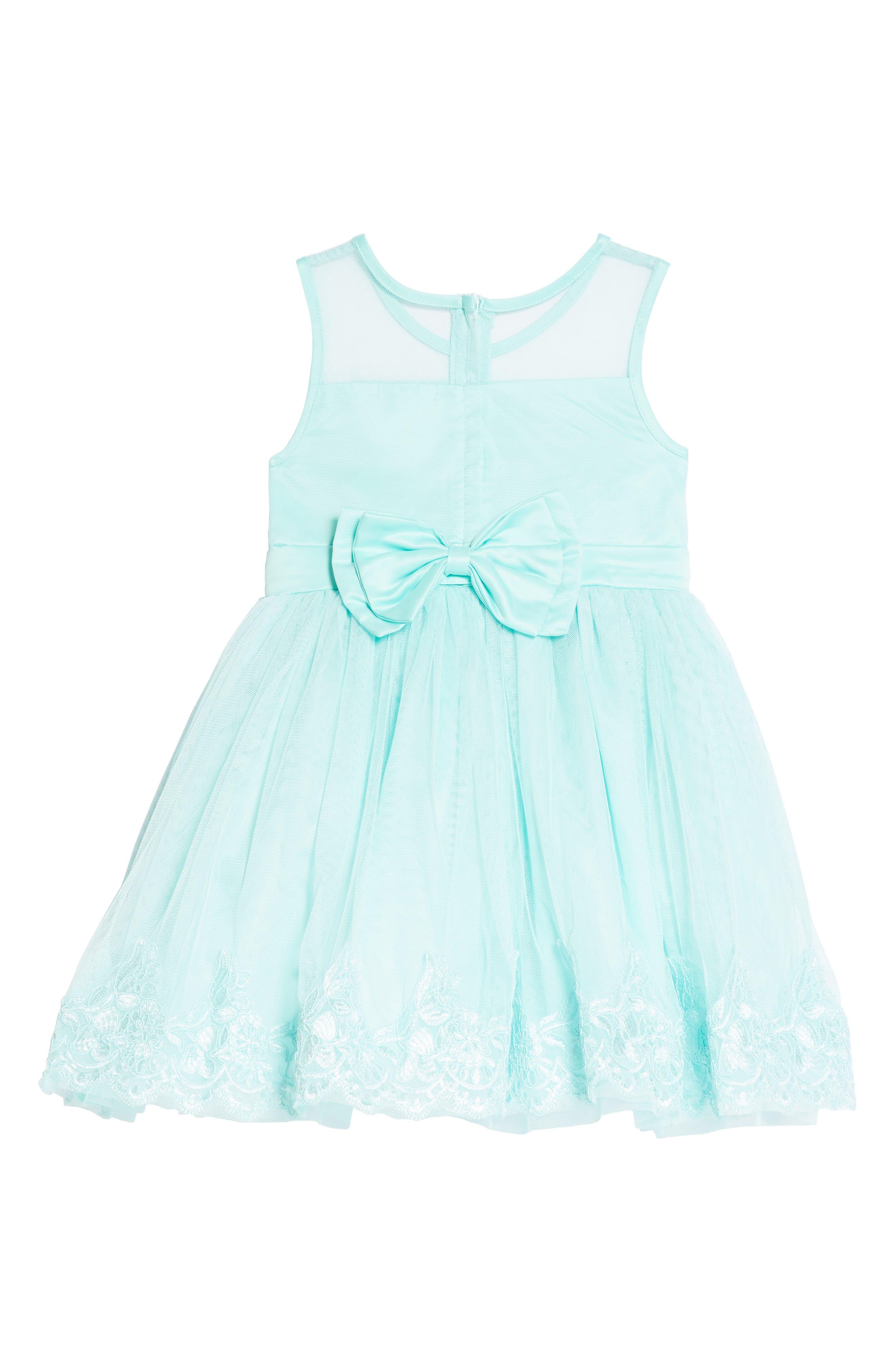 Tulle & Lace Party Dress,                             Alternate thumbnail 2, color,                             Aqua