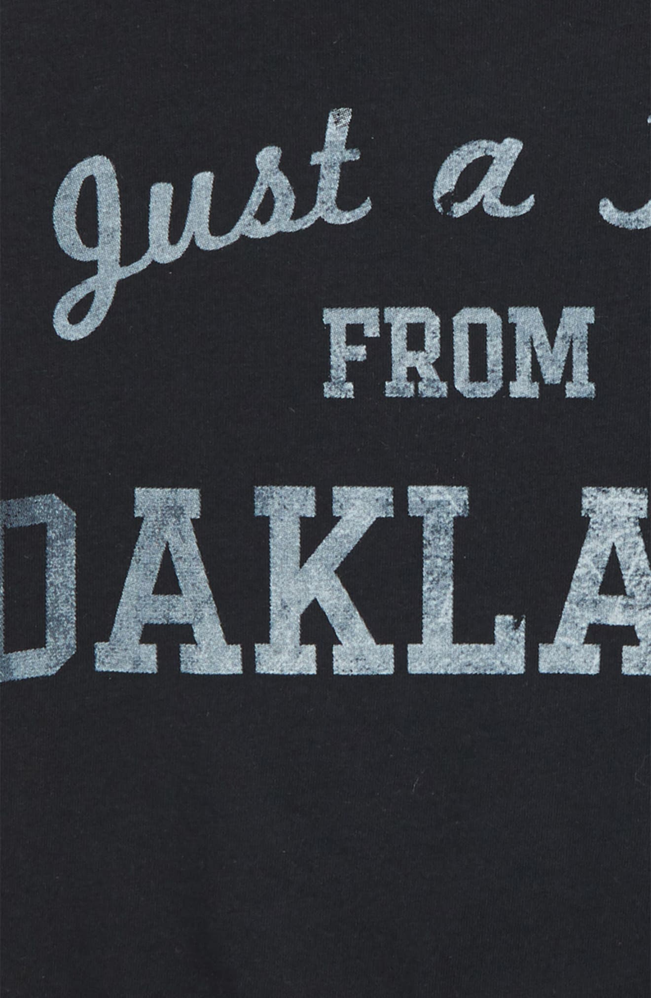 Just a Kid from Oakland Graphic T-Shirt,                             Alternate thumbnail 2, color,                             Black