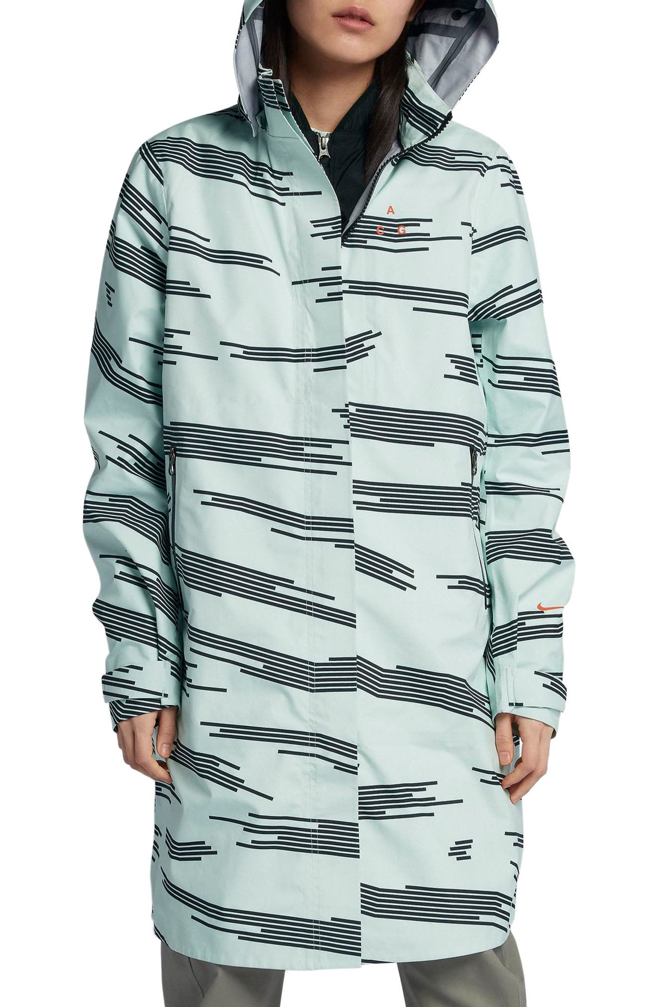 NikeLab ACG 3-in-1 System Women's Coat,                             Main thumbnail 1, color,                             Barely Green/ Black