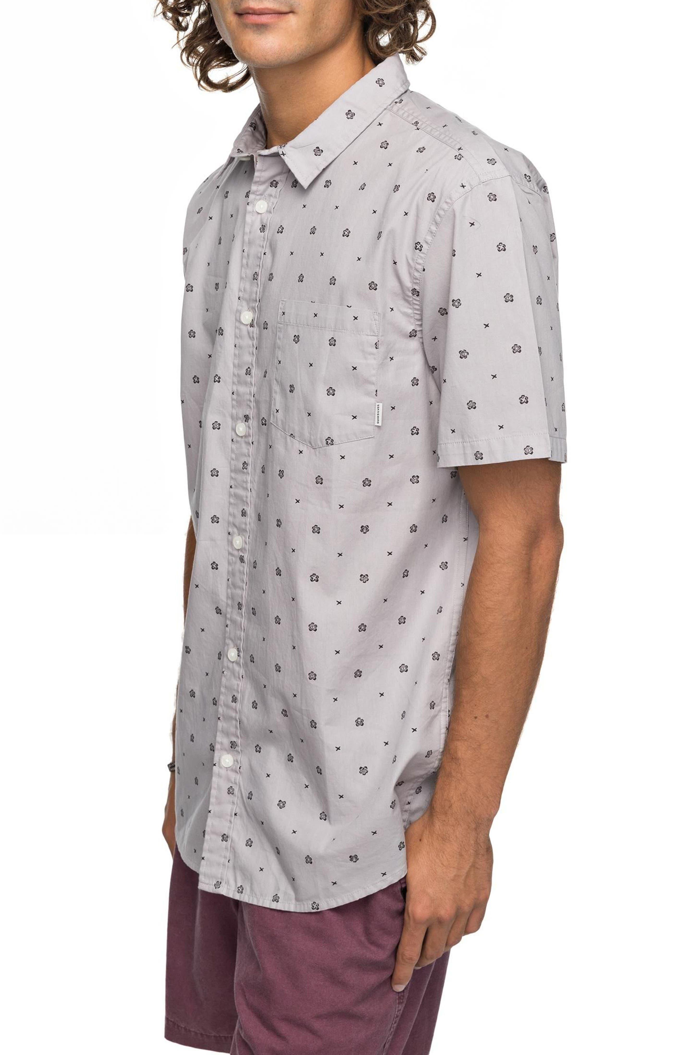 Kamanoa Short Sleeve Shirt,                             Main thumbnail 1, color,                             Silver Sconce
