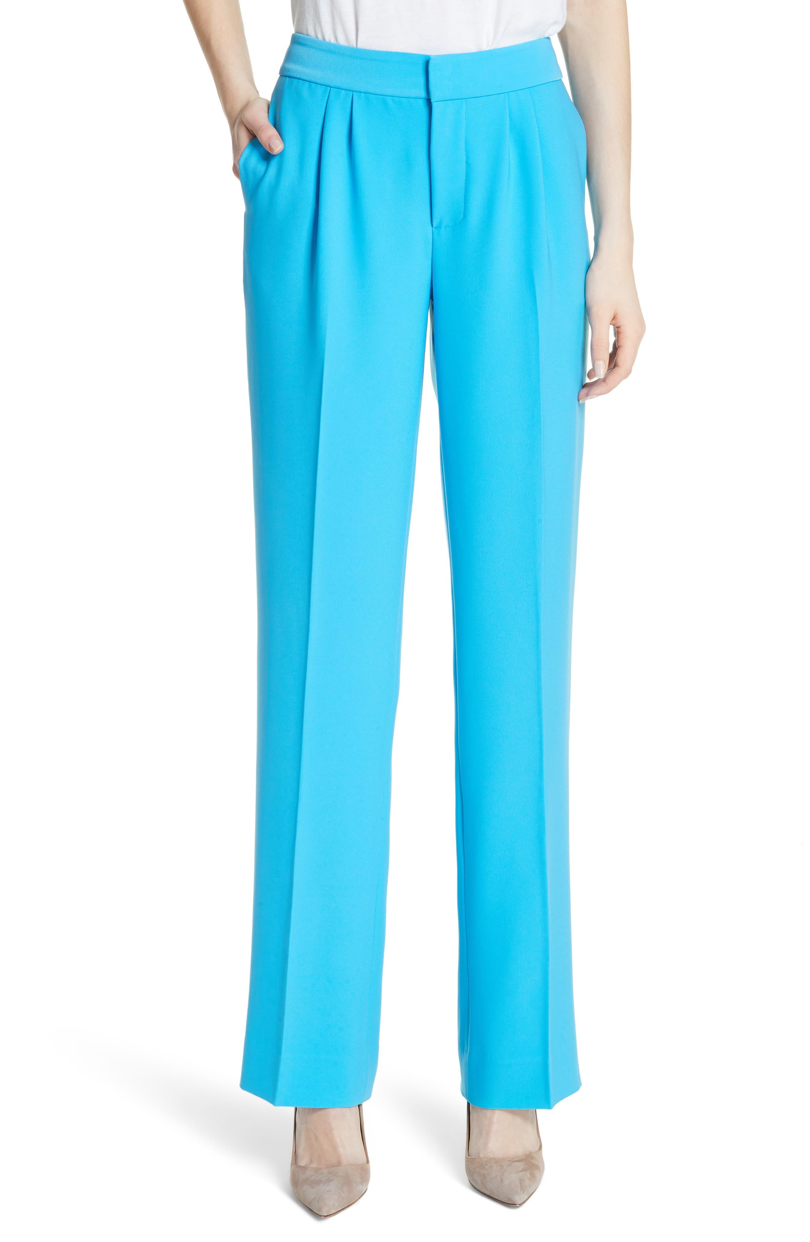 Soft Pleated Trousers,                             Main thumbnail 1, color,                             Malibu