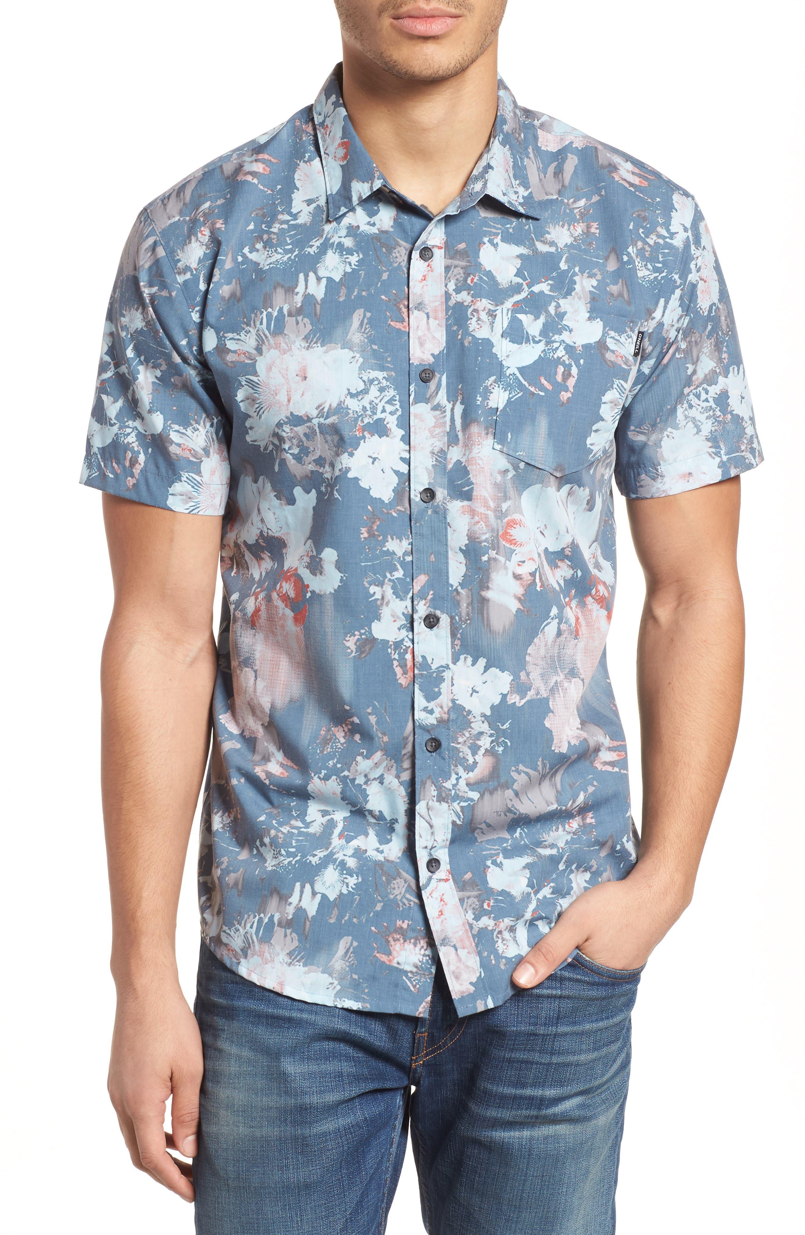 Perennial Woven Shirt,                             Main thumbnail 1, color,                             Dust Blue