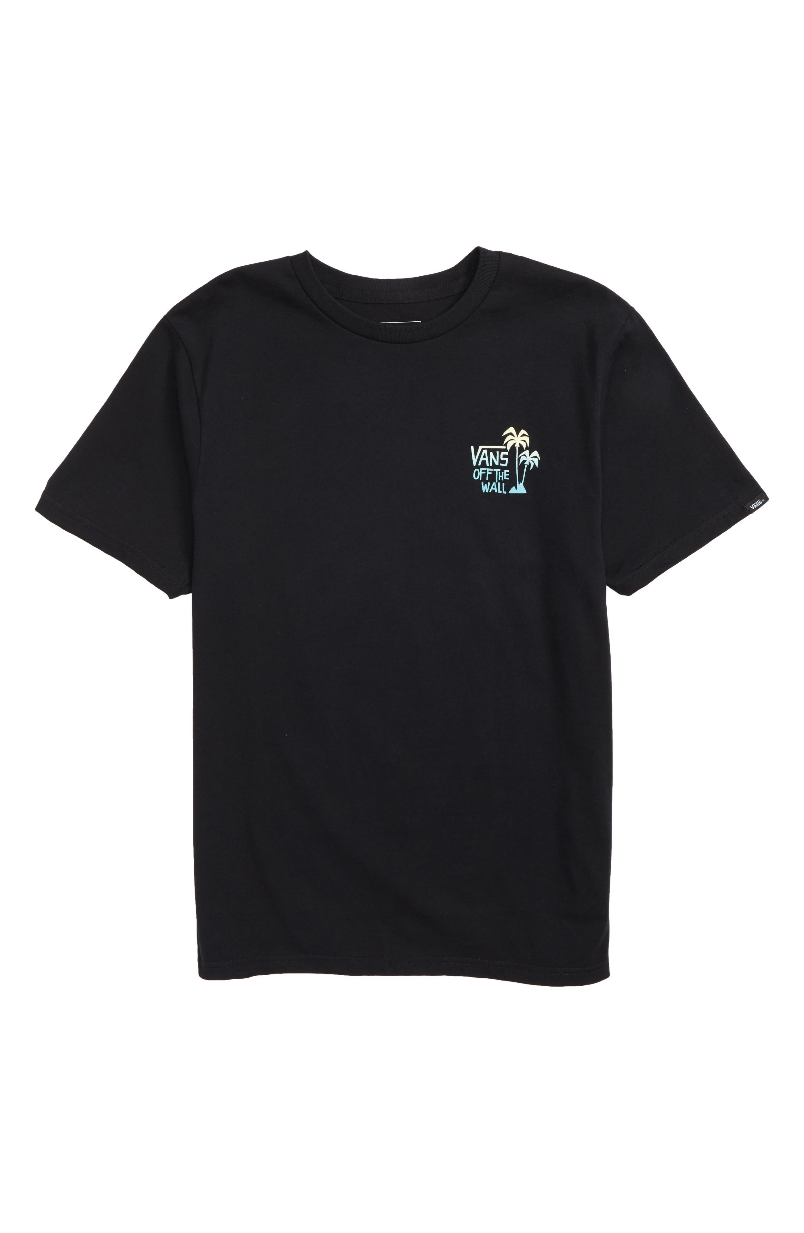 Yusuke Palm Graphic T-Shirt,                             Main thumbnail 1, color,                             Black