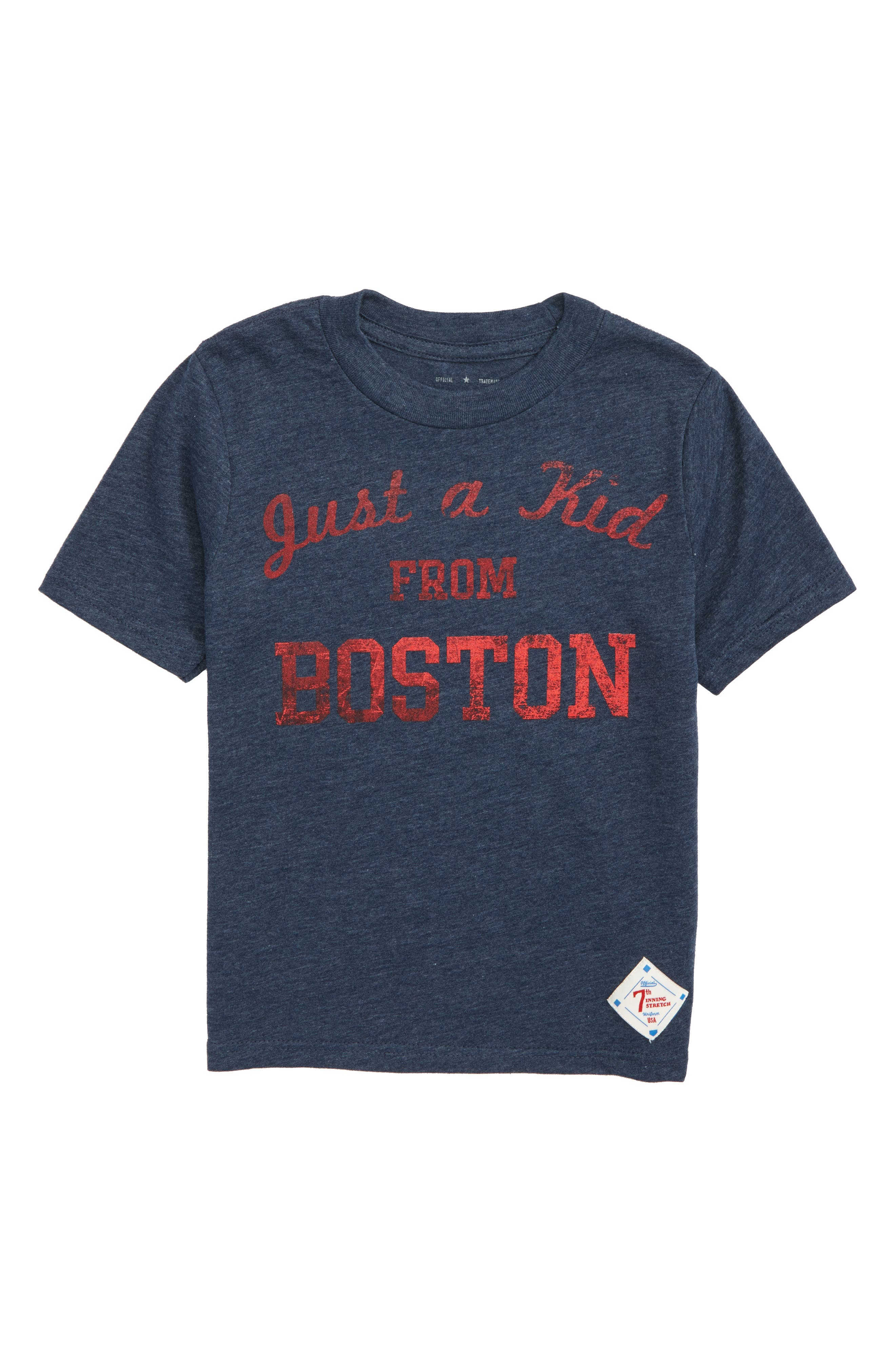 Just a Kid from Boston Graphic T-Shirt,                             Main thumbnail 1, color,                             Navy/ Red