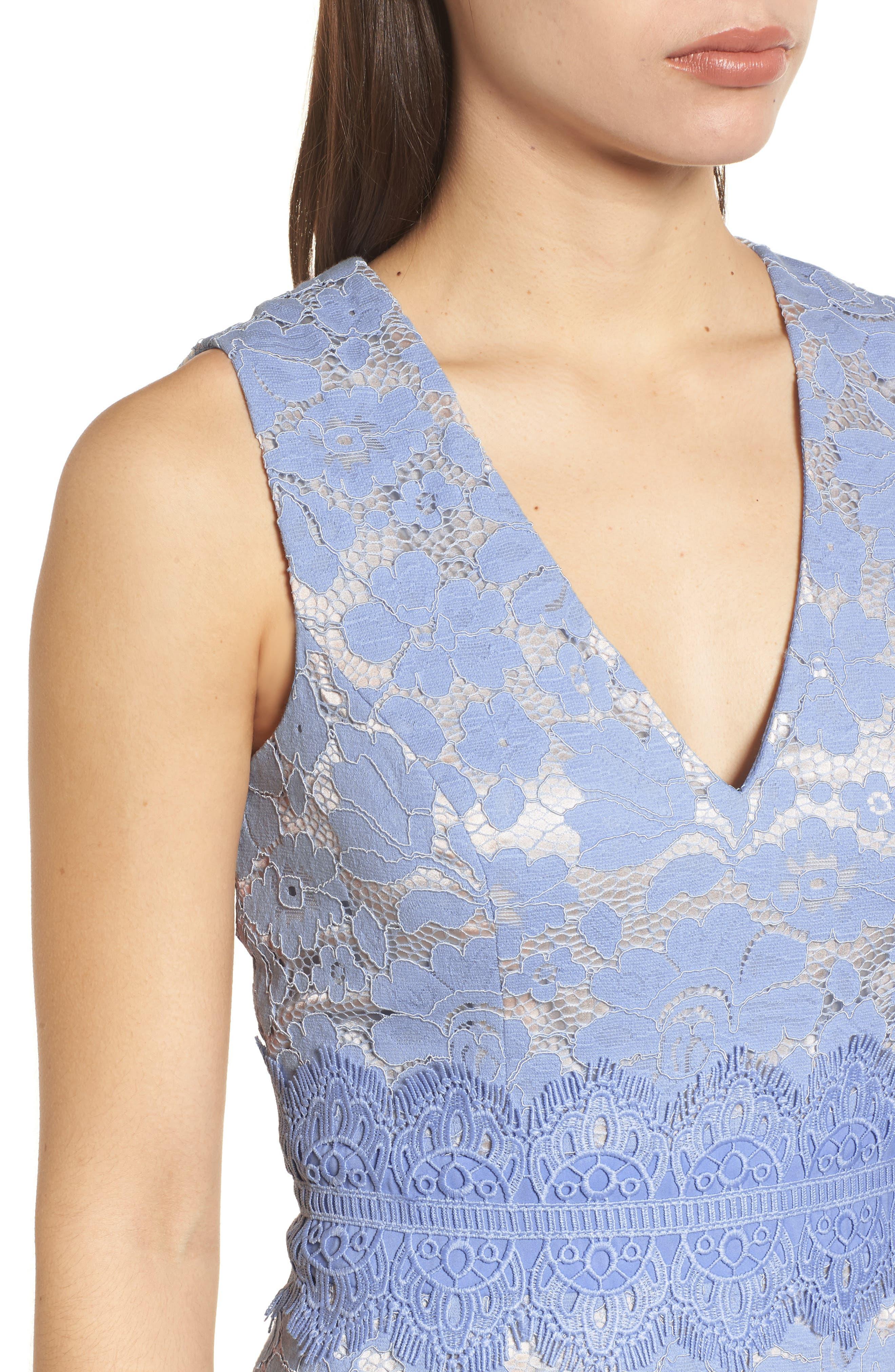 Alternate Image 4  - Vince Camuto Lace Sheath Dress (Regular & Petite)