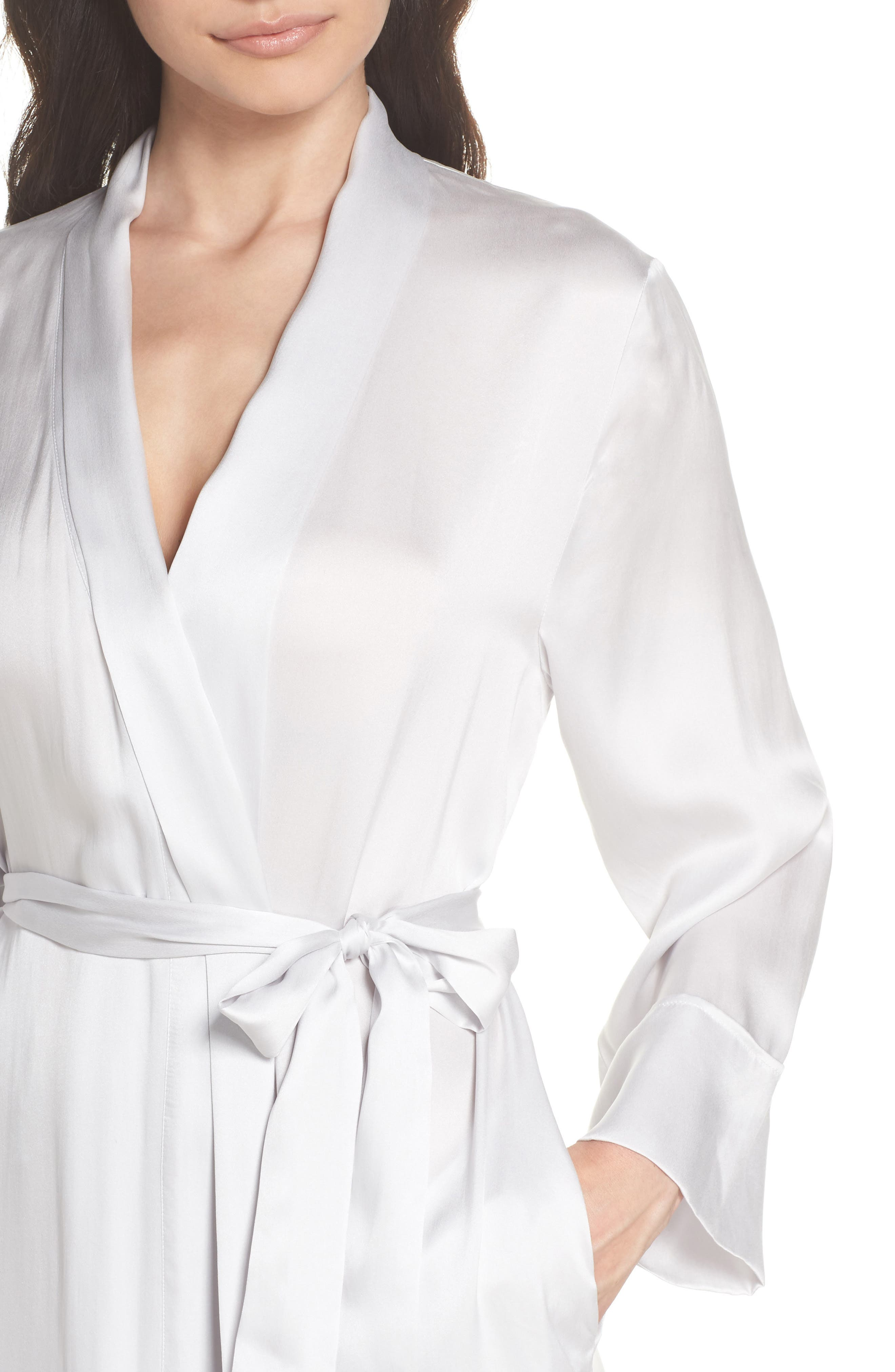 Silk Robe,                             Alternate thumbnail 5, color,                             Ice Grey