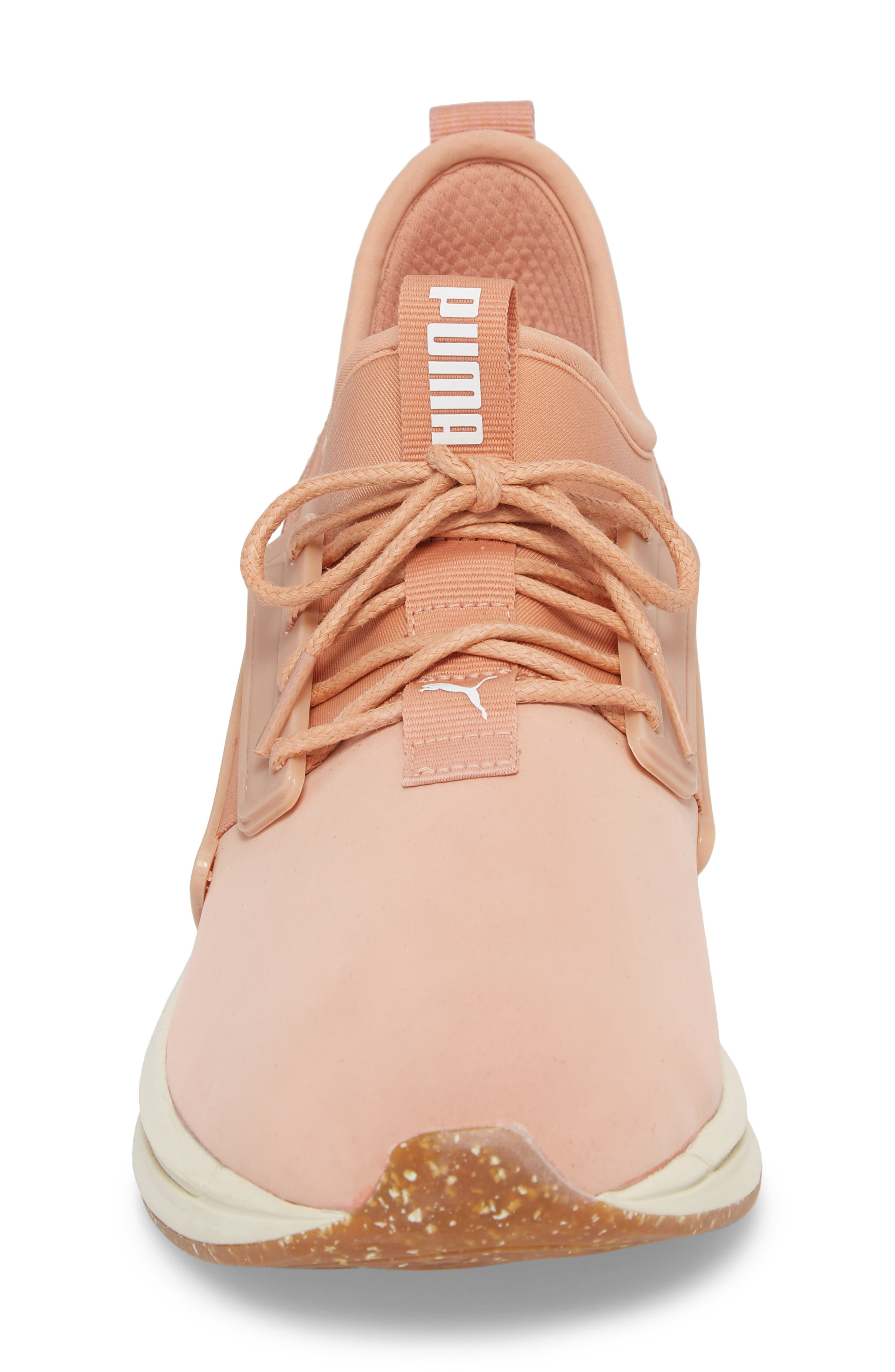 IGNITE Limitless SR Nature Sneaker,                             Alternate thumbnail 4, color,                             Muted Clay Leather/ Suede
