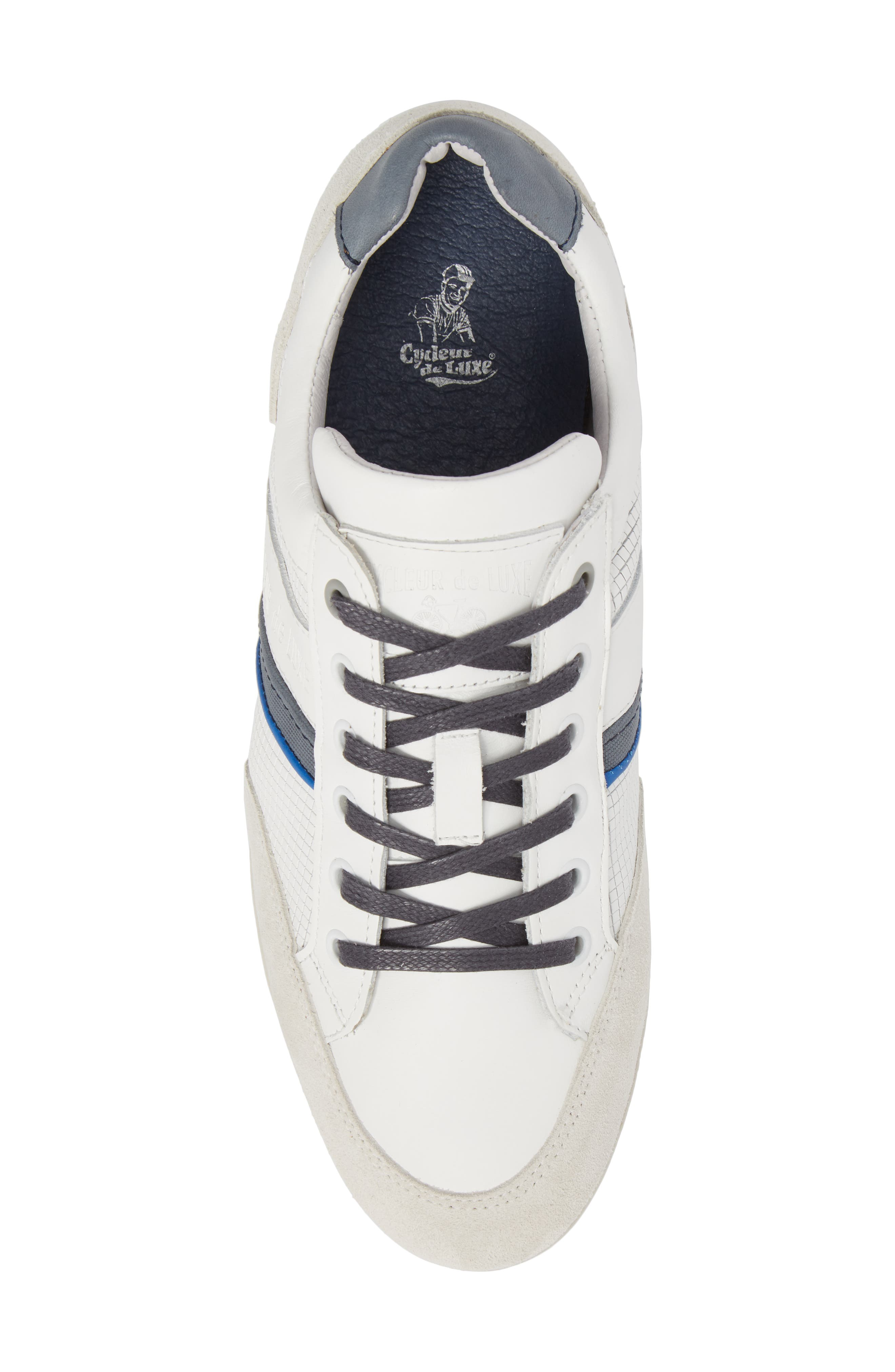 Bahamas Low Top Sneaker,                             Alternate thumbnail 5, color,                             Off White/ Navy Leather