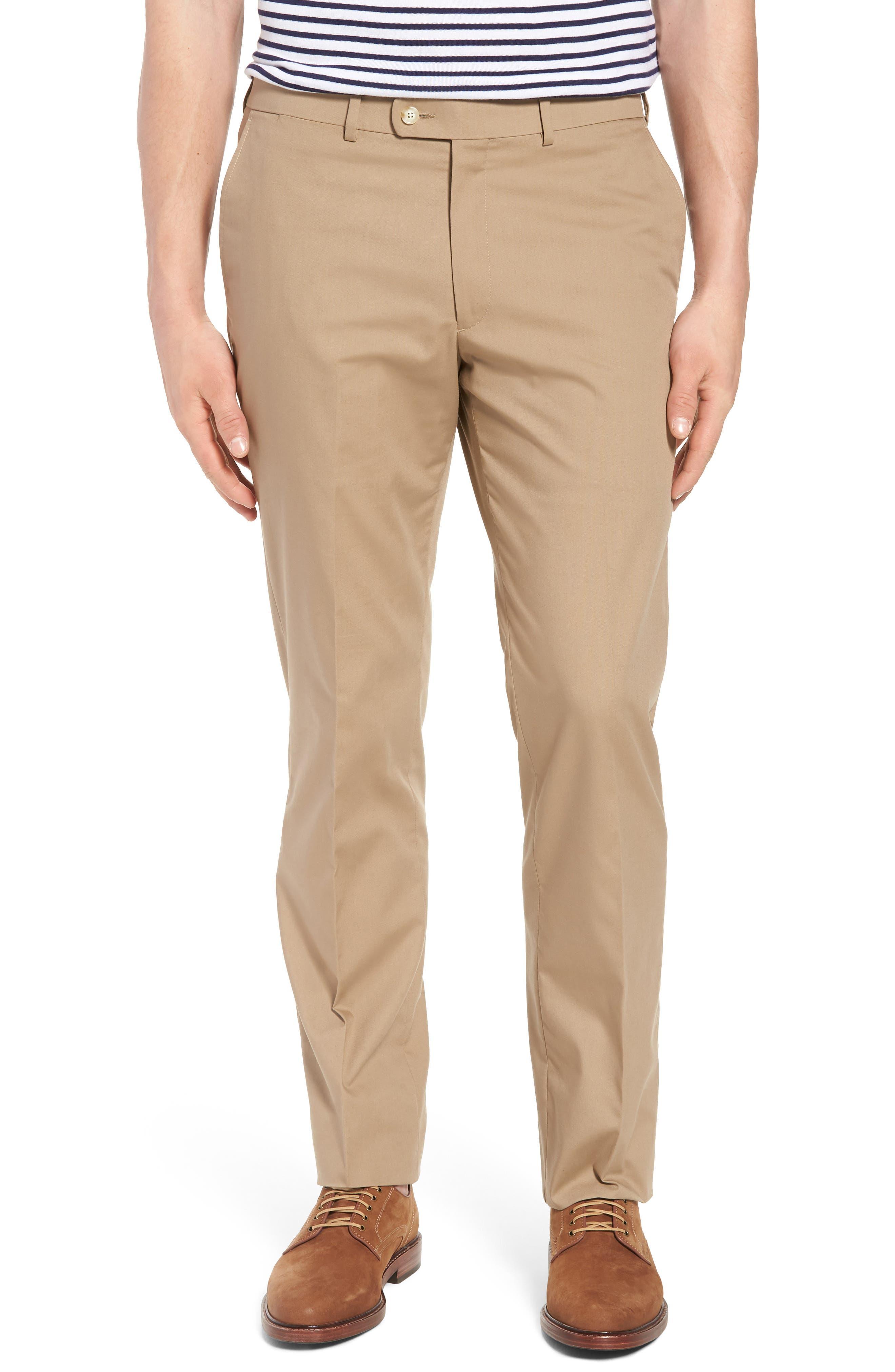 Irons AIM Classic Fit Solid Cotton Blend Suit,                             Alternate thumbnail 6, color,                             Khaki