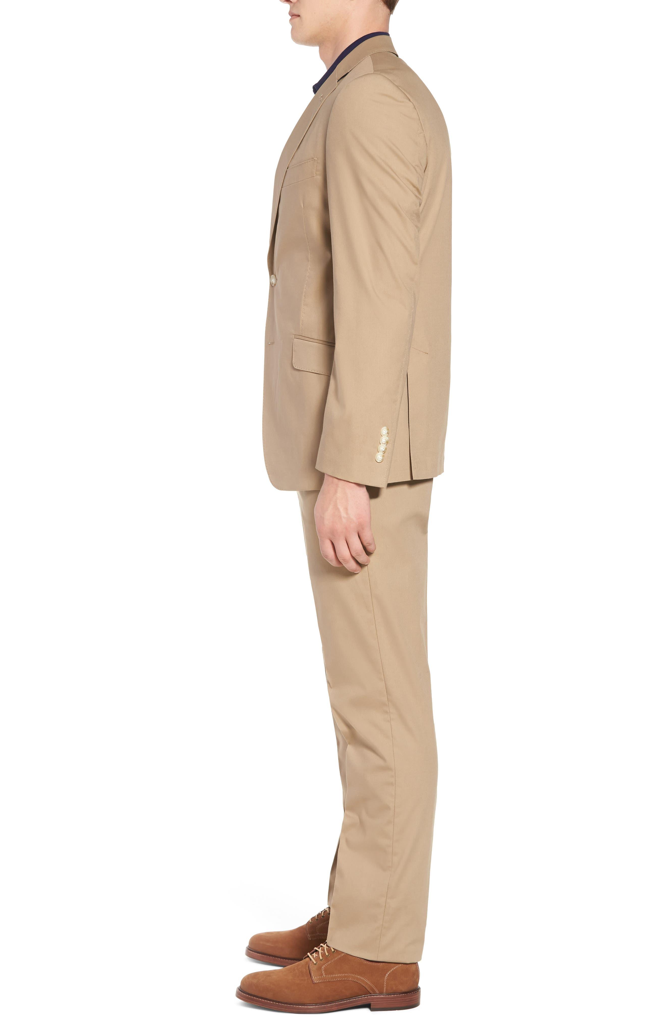 Irons AIM Classic Fit Solid Cotton Blend Suit,                             Alternate thumbnail 3, color,                             Khaki