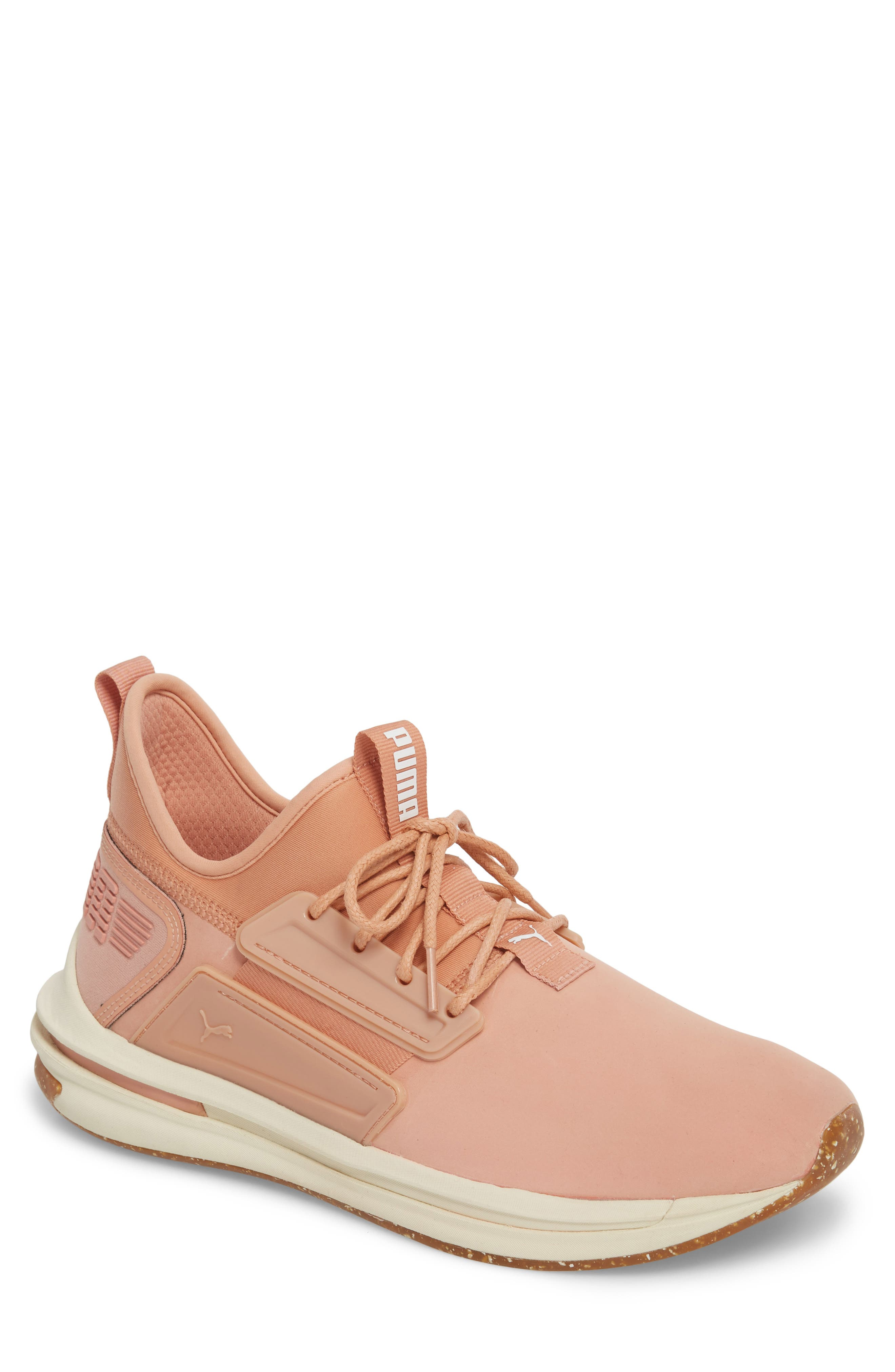IGNITE Limitless SR Nature Sneaker,                         Main,                         color, Muted Clay Leather/ Suede