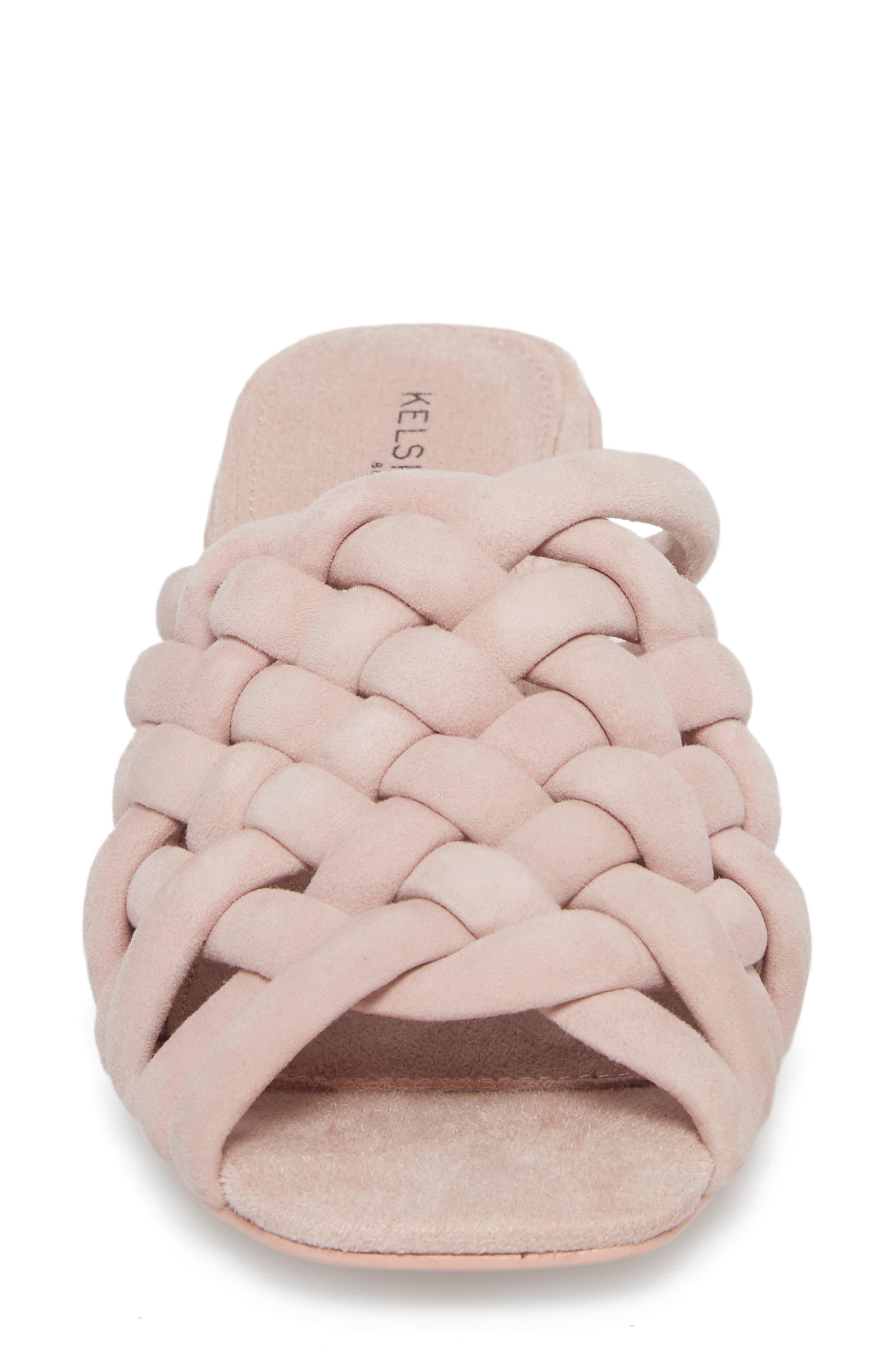 Sky Dress Woven Mule Sandal,                             Alternate thumbnail 4, color,                             Pale Pink
