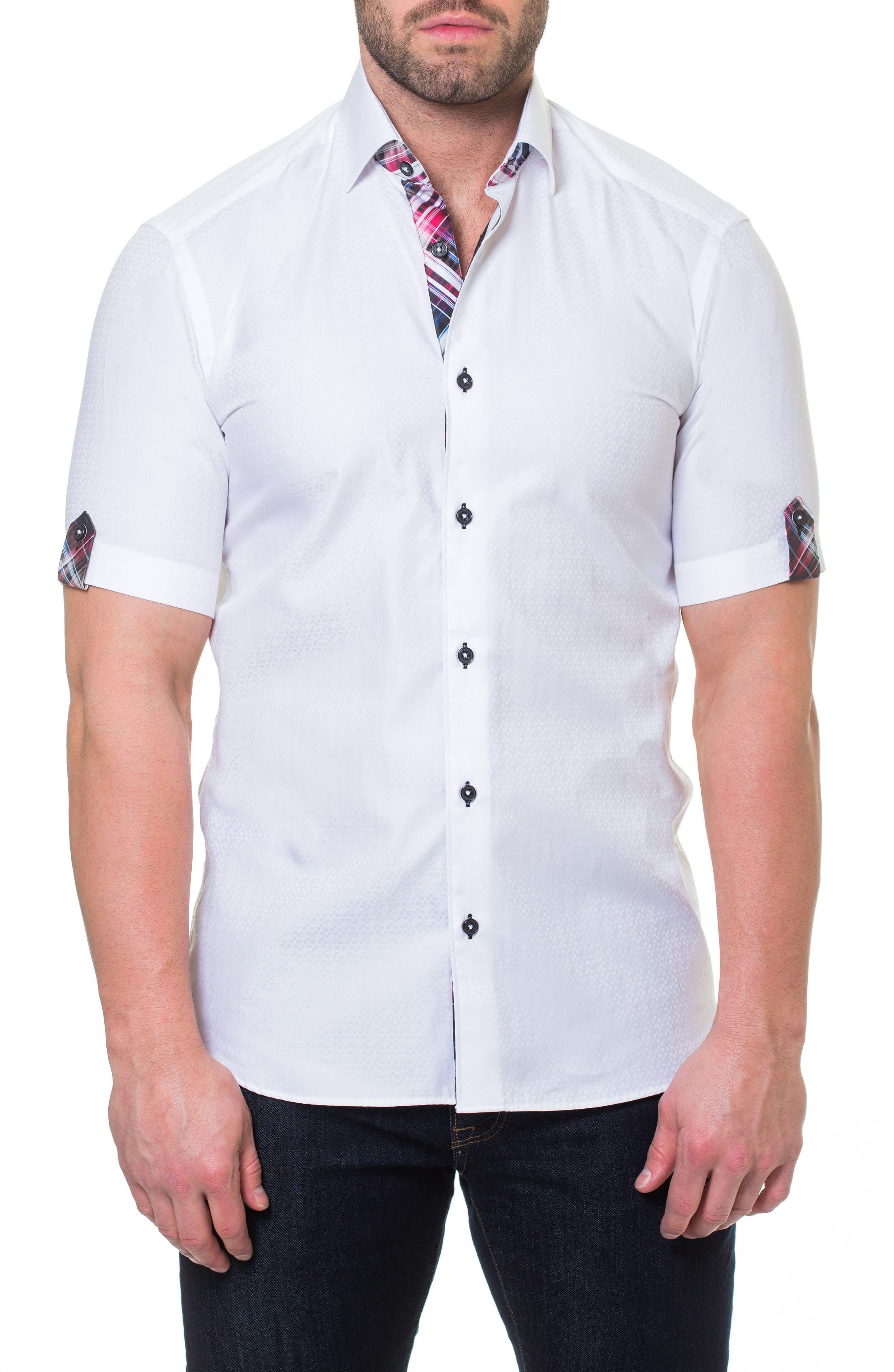 Fresh Block Sport Shirt,                             Main thumbnail 1, color,                             White