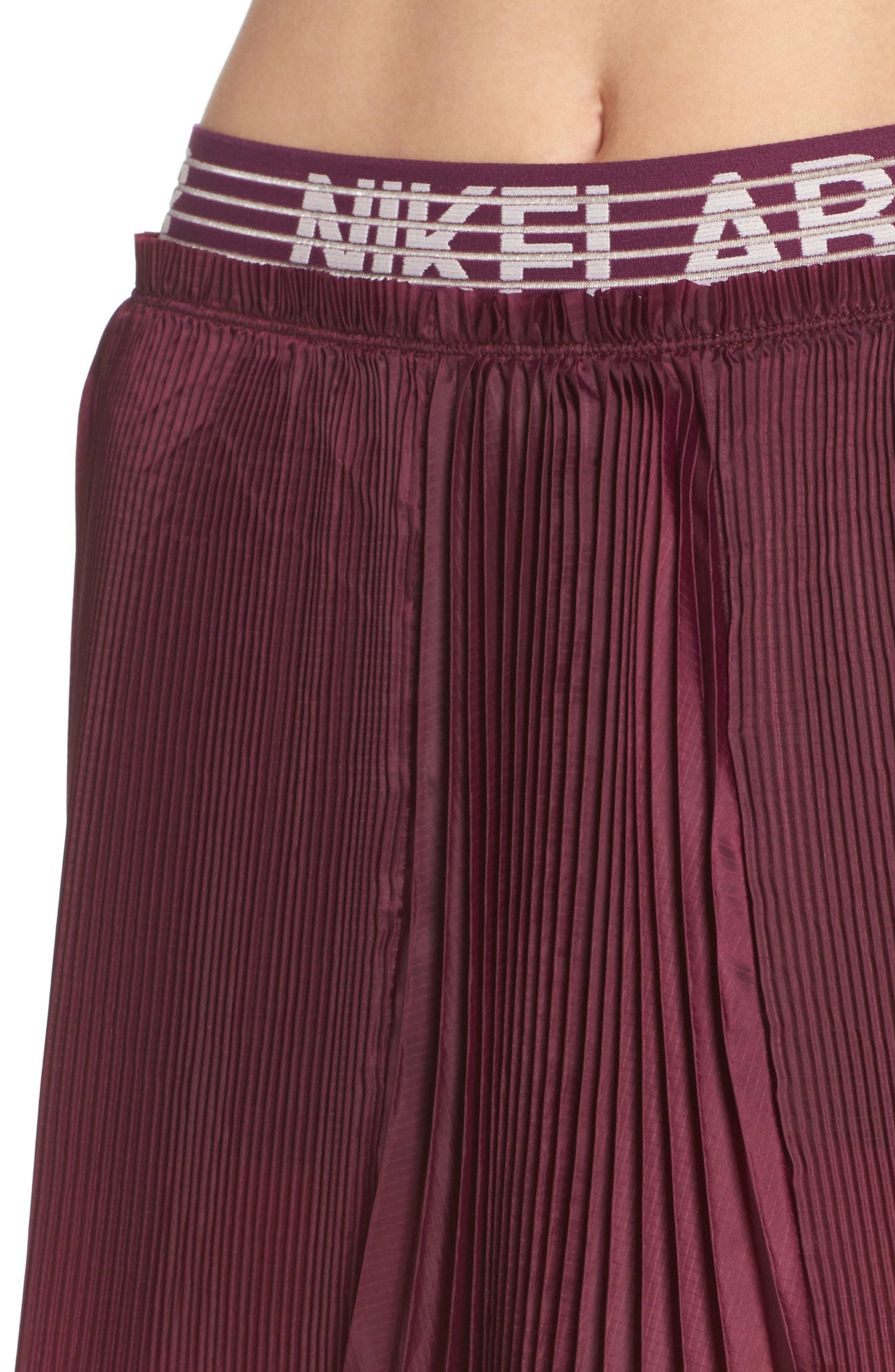 NikeLab Collection Dri-FIT Tennis Skirt,                             Alternate thumbnail 4, color,                             Bordeaux