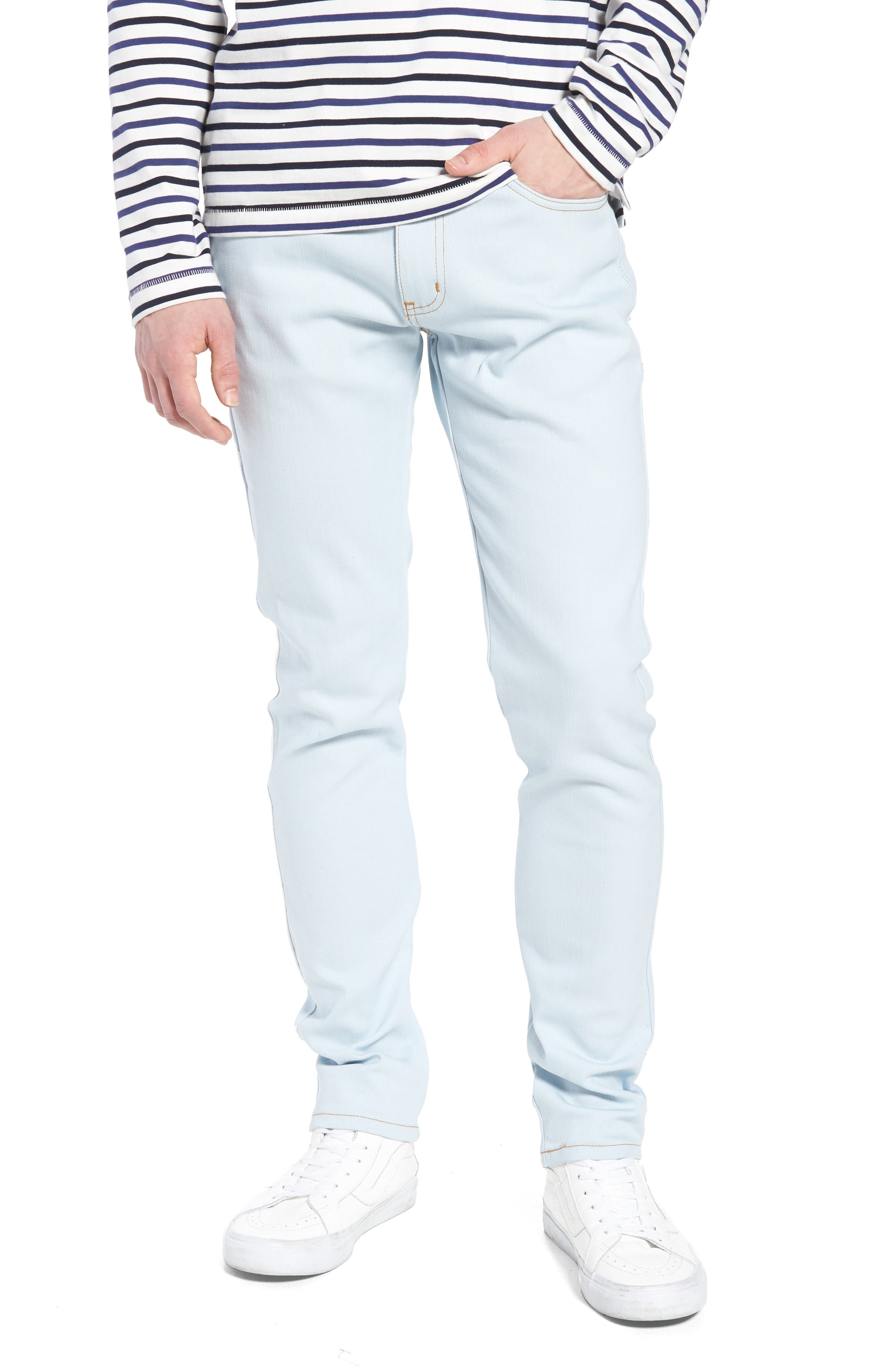 Naked & Famous Super Skinny Guy Skinny Fit Jeans,                         Main,                         color, Powder Blue