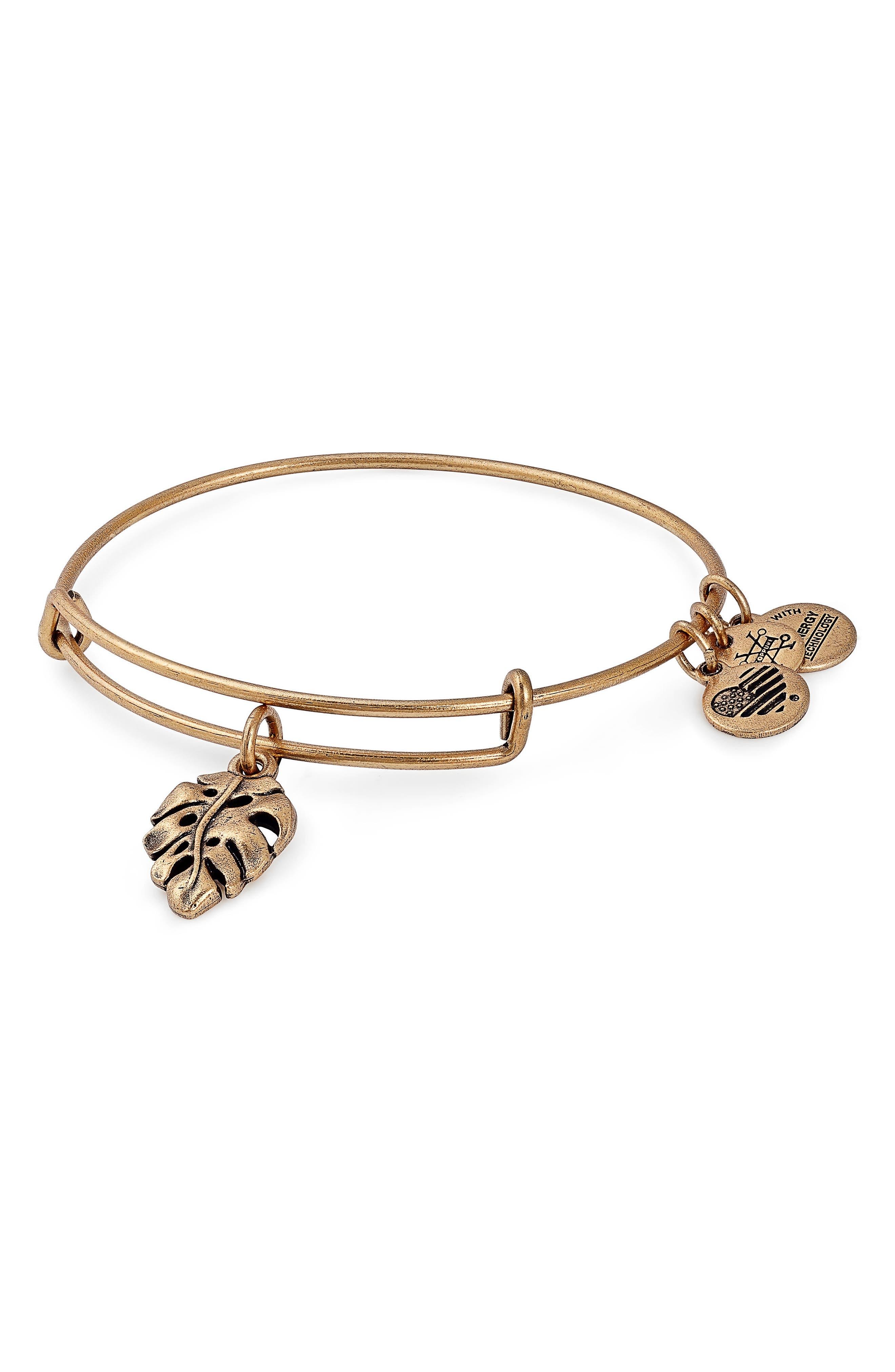 Alex and Ani Palm Leaf Charm Bracelet