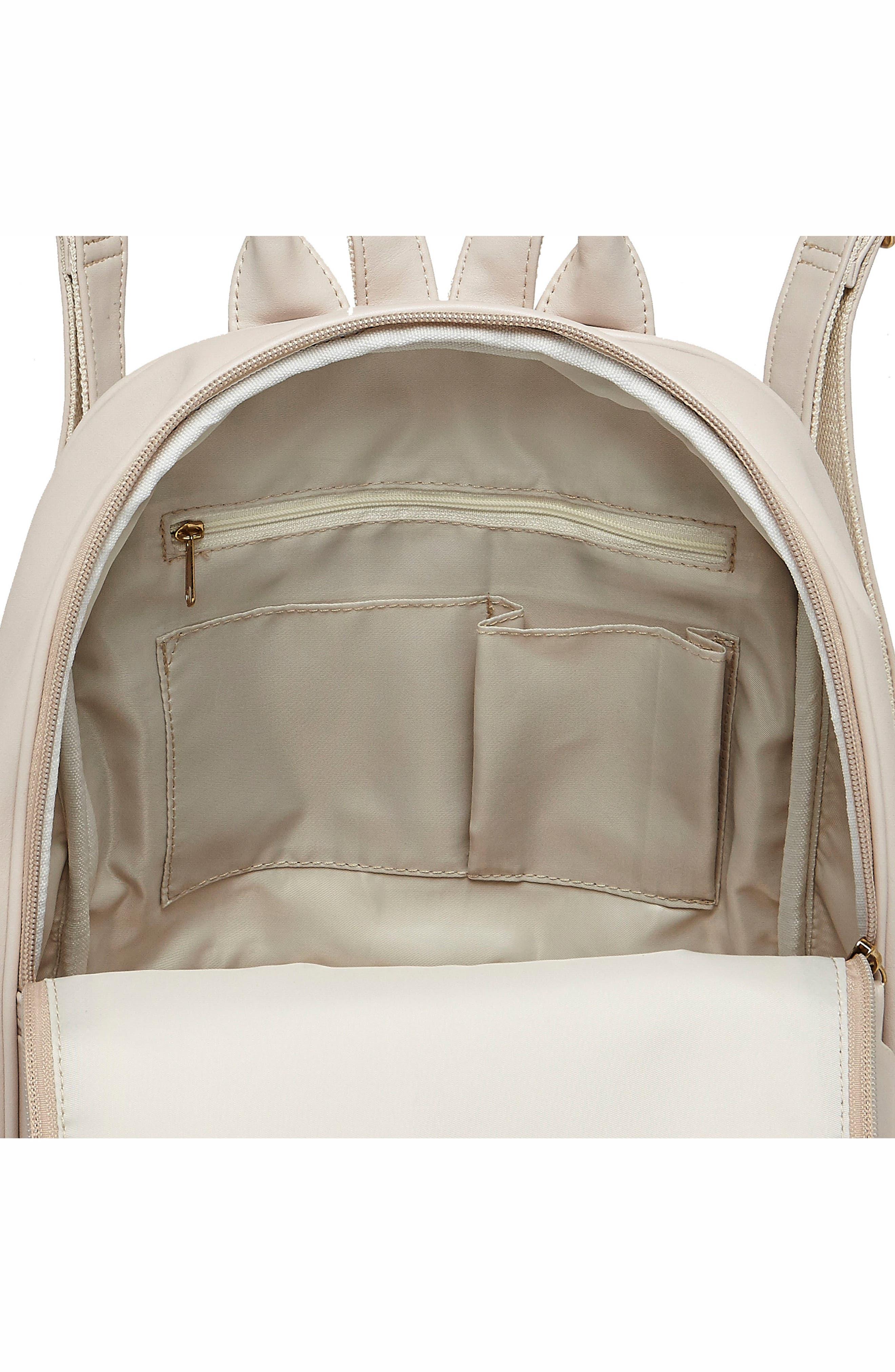Evolution Vegan Leather Backpack,                             Alternate thumbnail 3, color,                             White