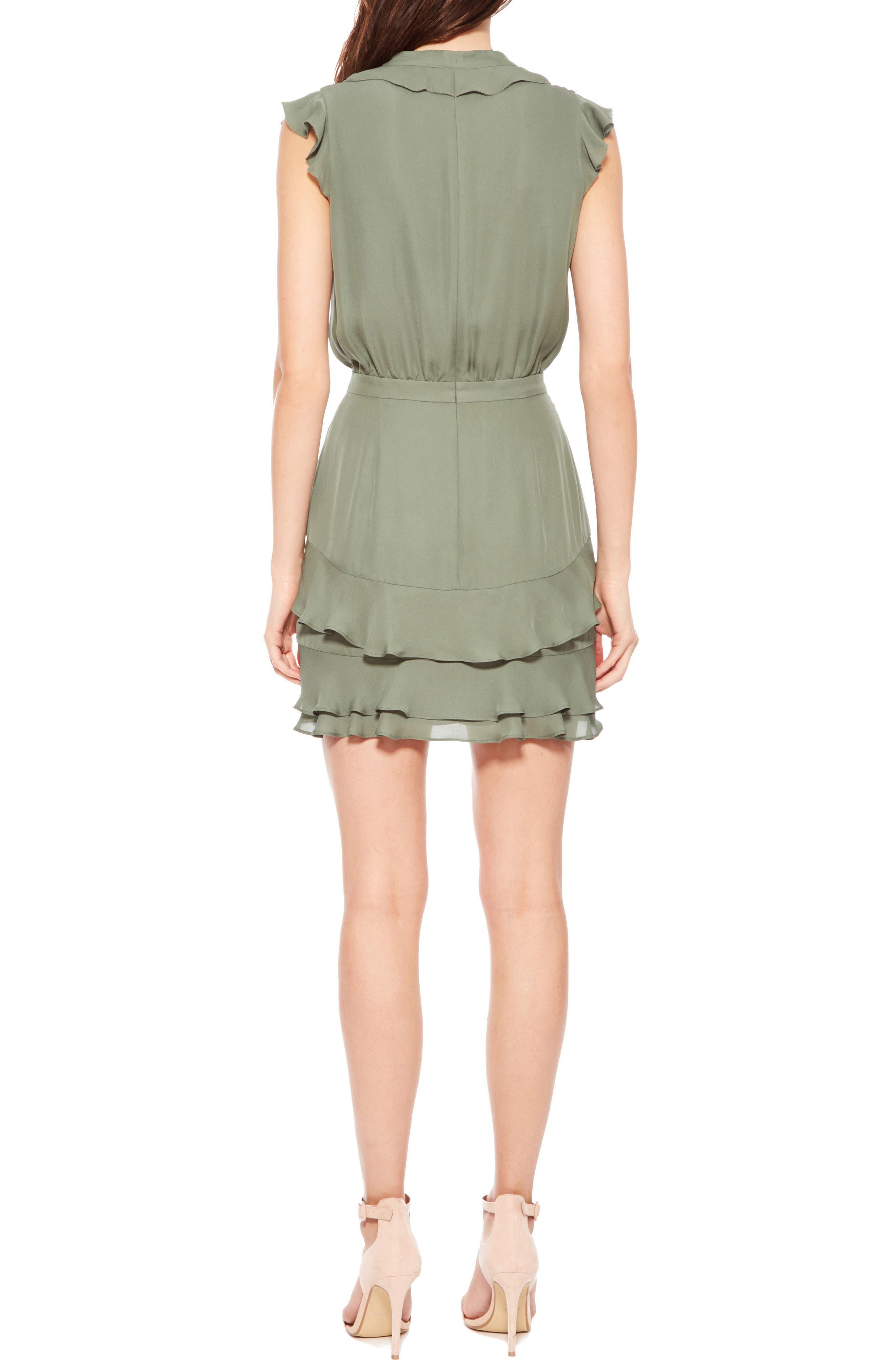 Tangia Silk Dress,                             Alternate thumbnail 2, color,                             Greenbriar