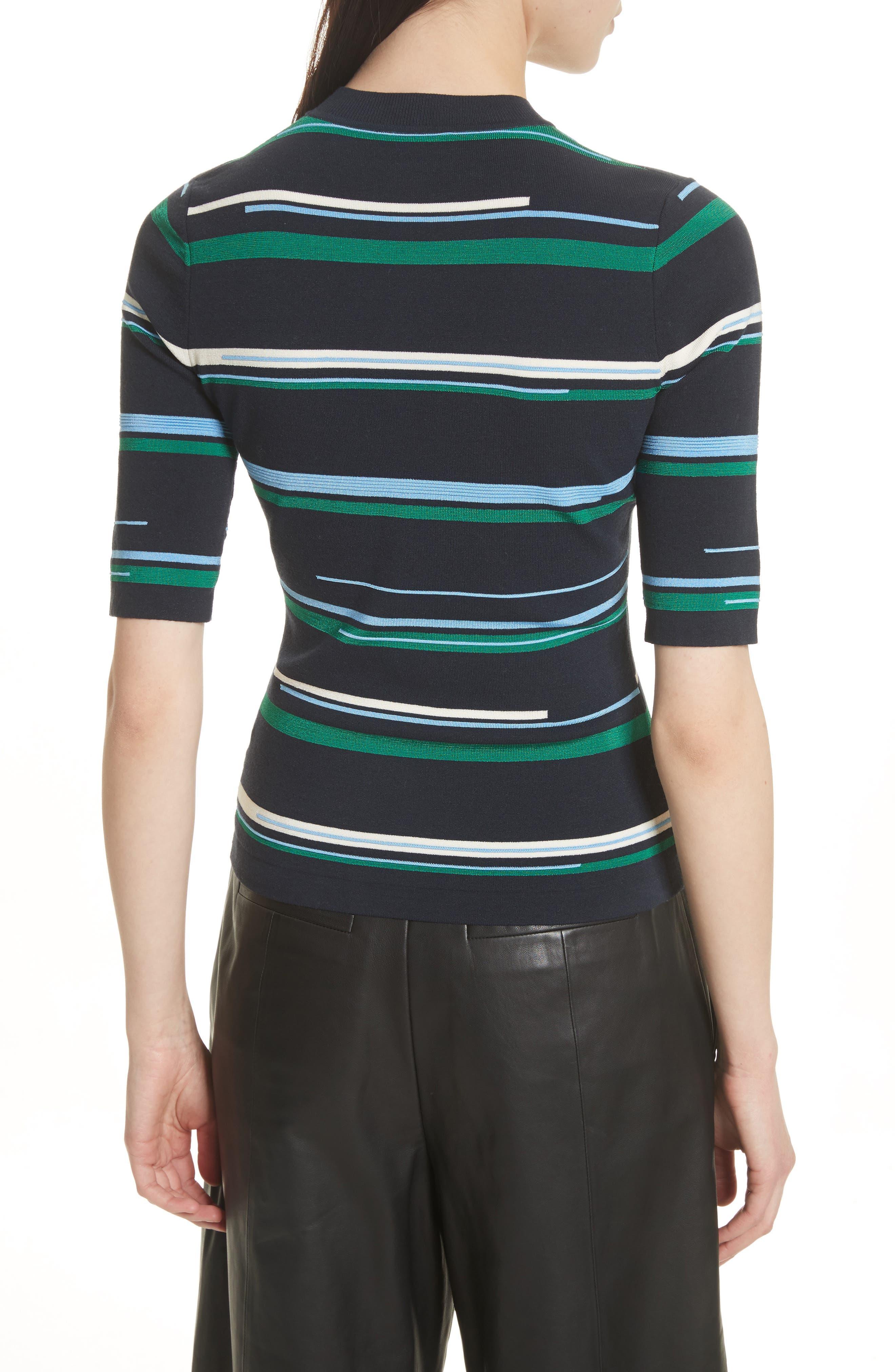 Stripe Knit Top,                             Alternate thumbnail 2, color,                             Midnight Multi