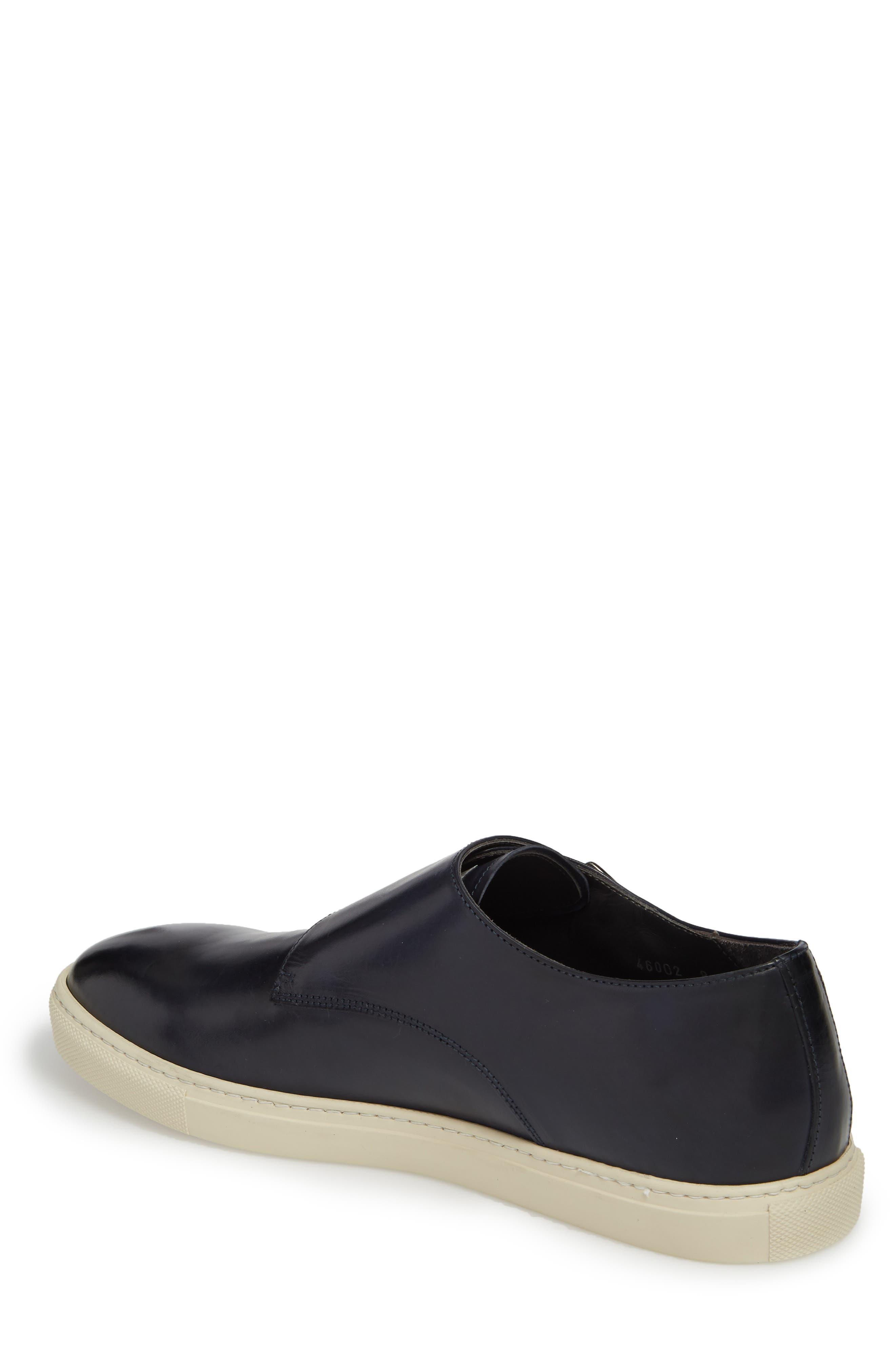 Gildden Double Monk Strap Sneaker,                             Alternate thumbnail 2, color,                             Diver Blue Marine Leather