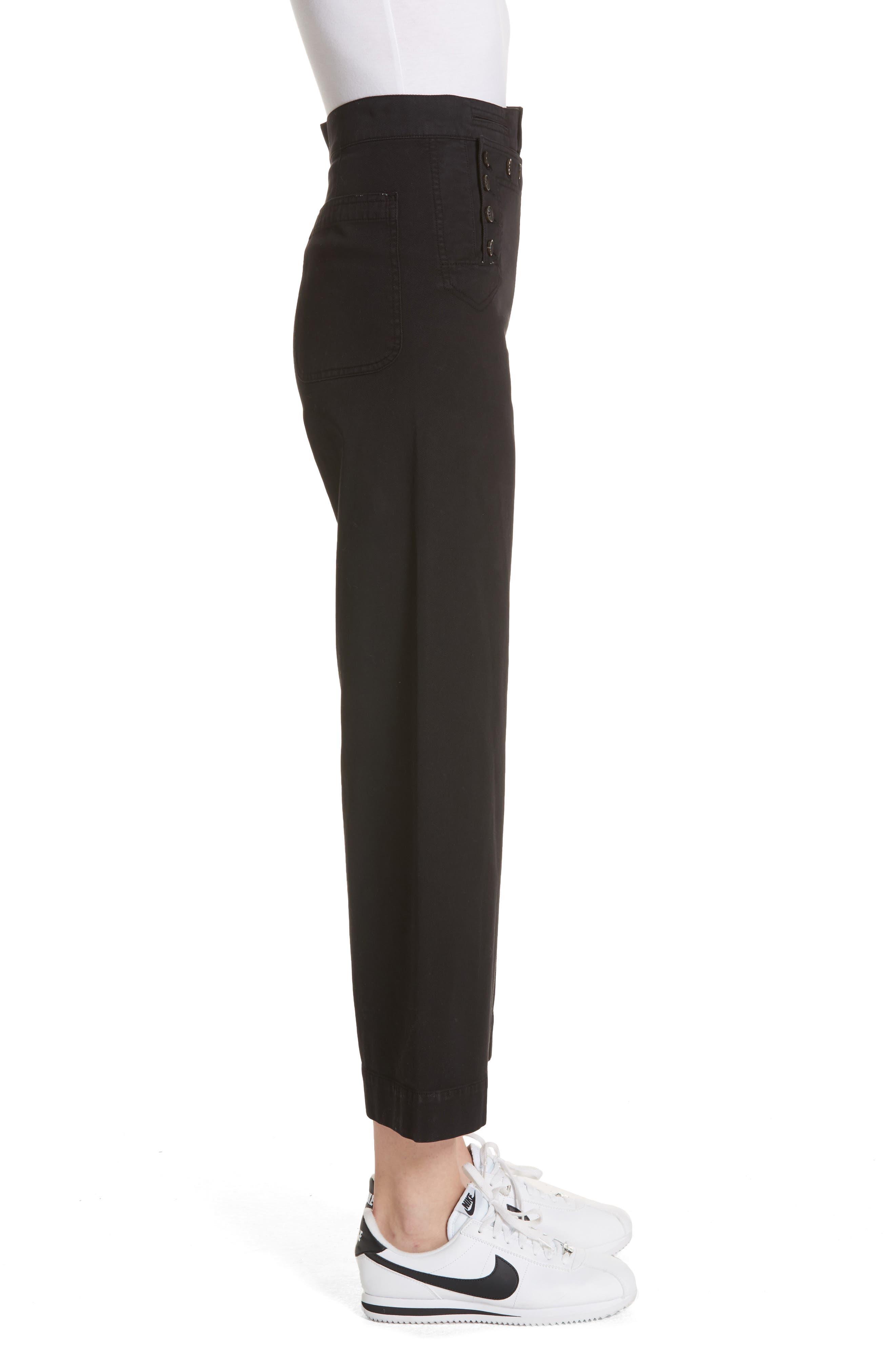 Pierce Crop Pants,                             Alternate thumbnail 3, color,                             Black