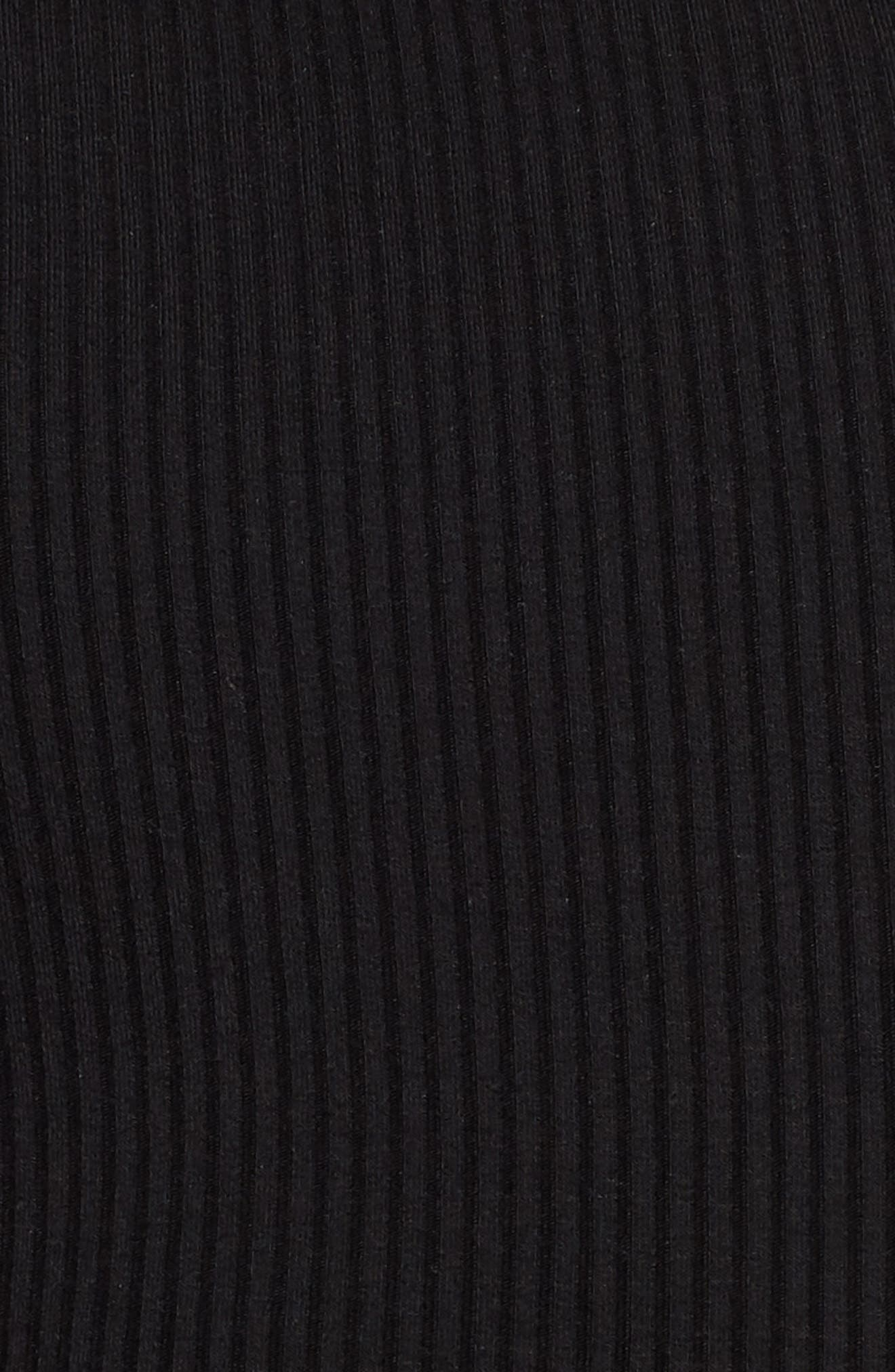 Taylor Ribbed Top,                             Alternate thumbnail 6, color,                             Noir