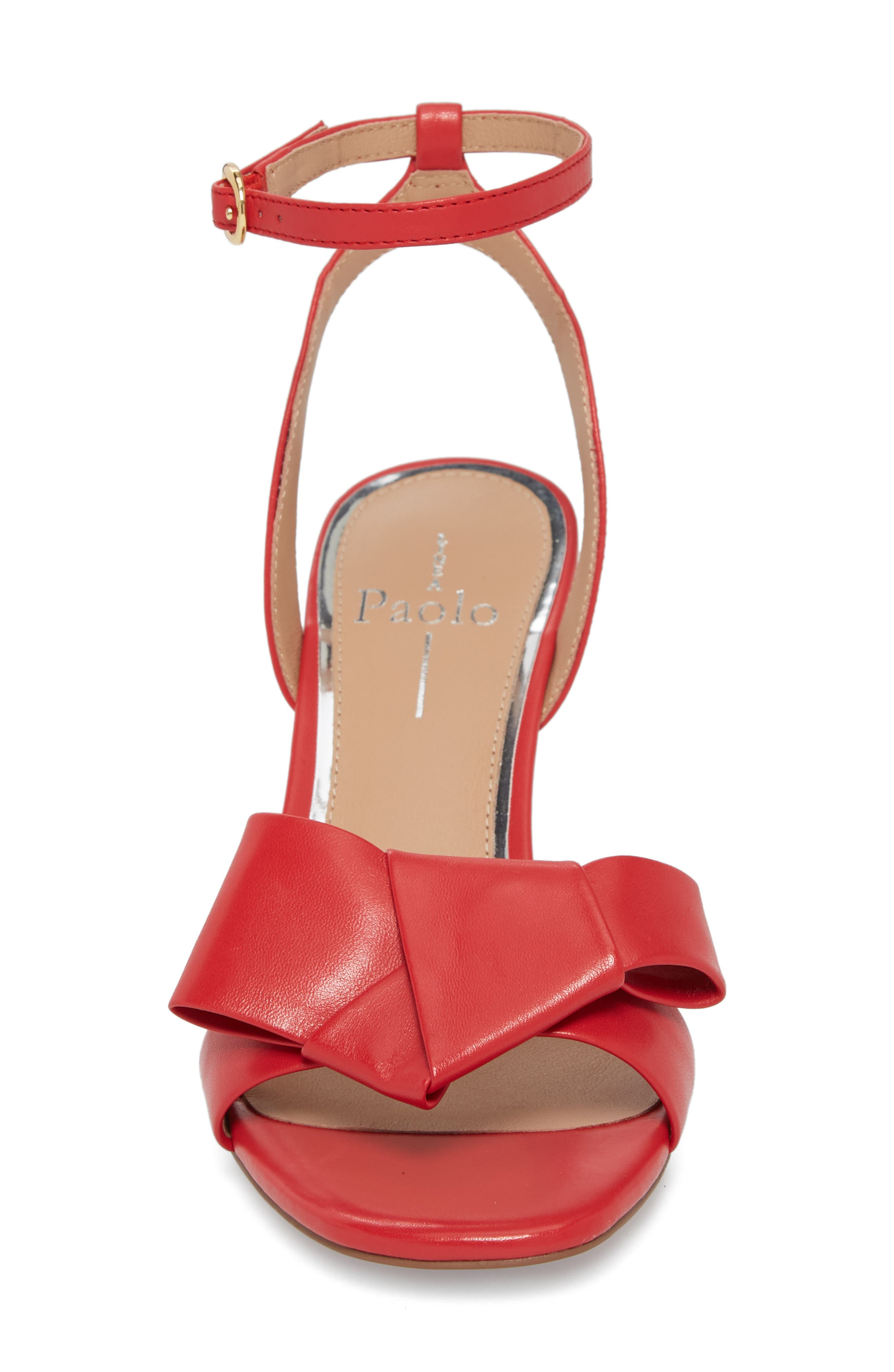 Haven Ankle Strap Sandal,                             Alternate thumbnail 4, color,                             Red Leather